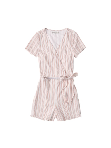 Hosen - Jumpsuit 'WRAP ROMPER' › Abercrombie Fitch › pfirsich  - Onlineshop ABOUT YOU