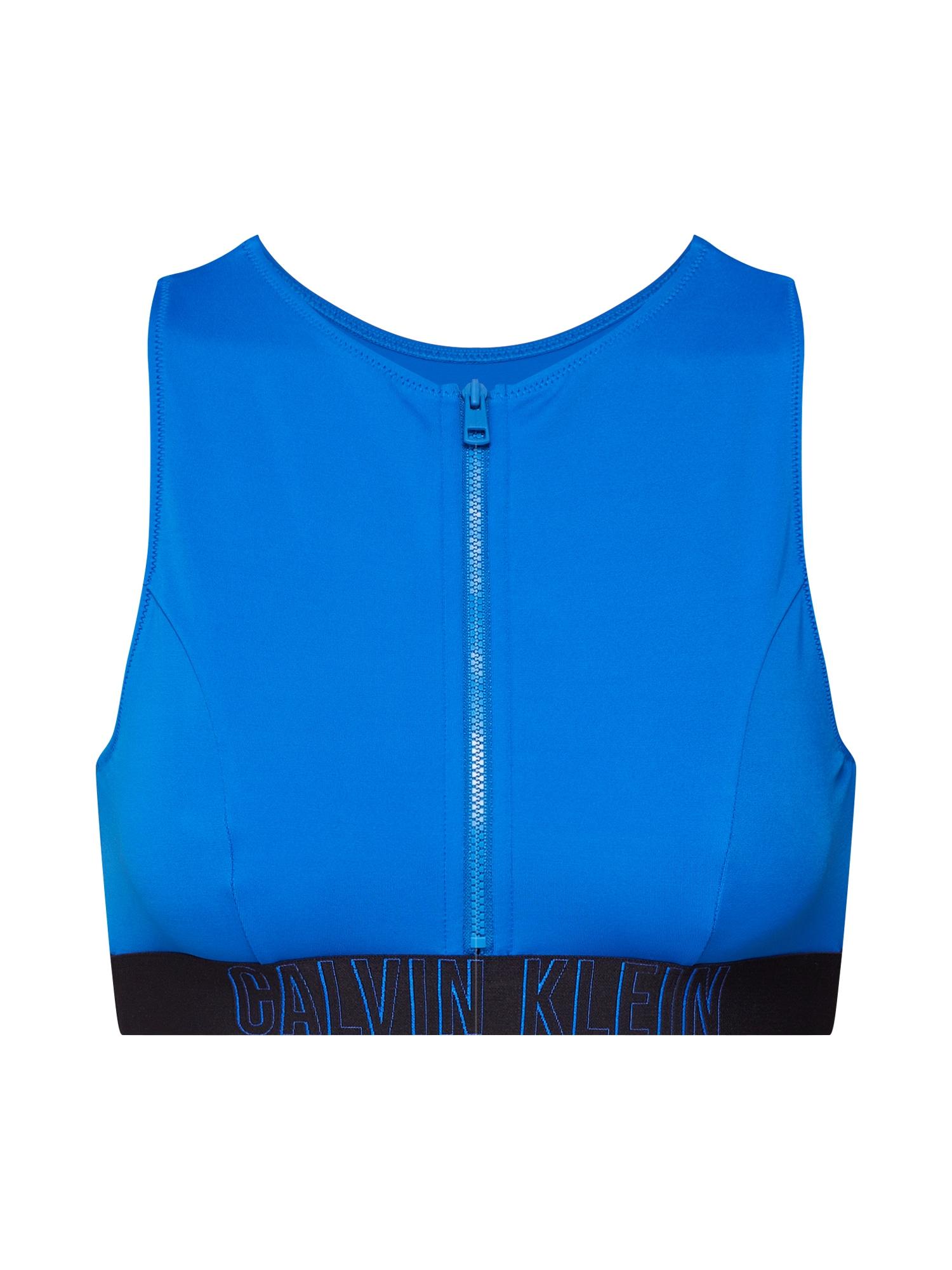 Horní díl plavek OPEN BACK CROP TOP tmavě modrá Calvin Klein Swimwear