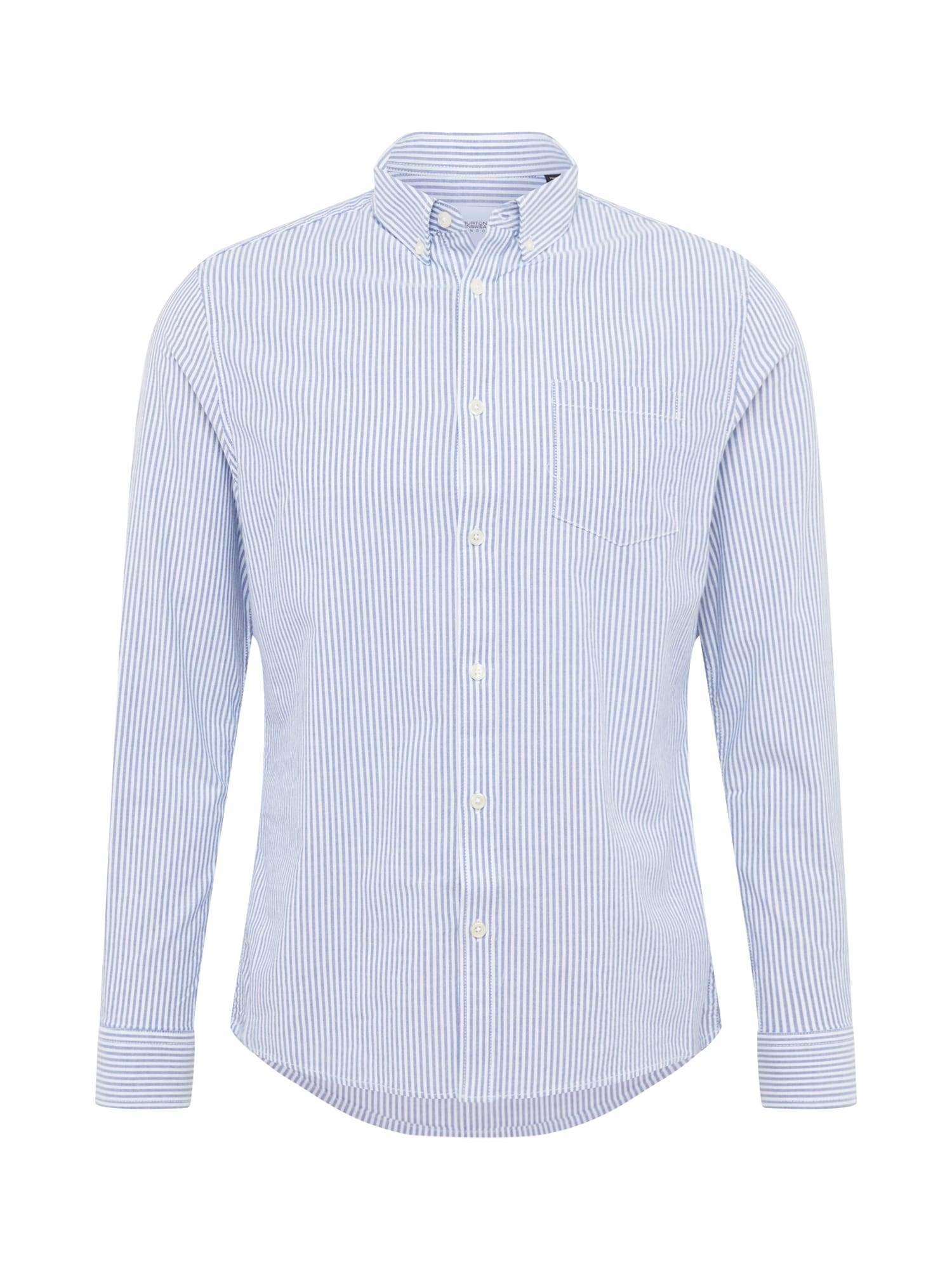 BURTON MENSWEAR LONDON Dalykiniai marškiniai 'BLU TICKING' mėlyna