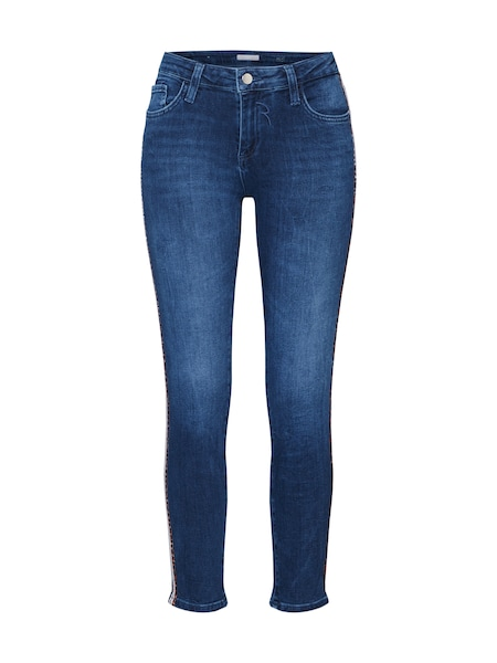 Hosen für Frauen - Rich Royal Jeans 'Midi Leopard Tape Jean' blau  - Onlineshop ABOUT YOU