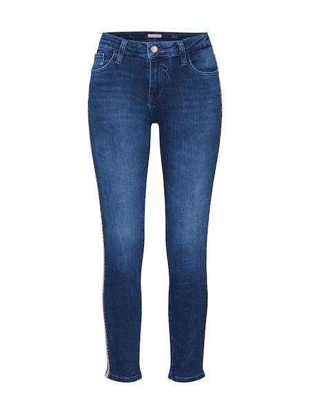 Hosen - Jeans 'Midi Leopard Tape Jean' › Rich Royal › blau  - Onlineshop ABOUT YOU