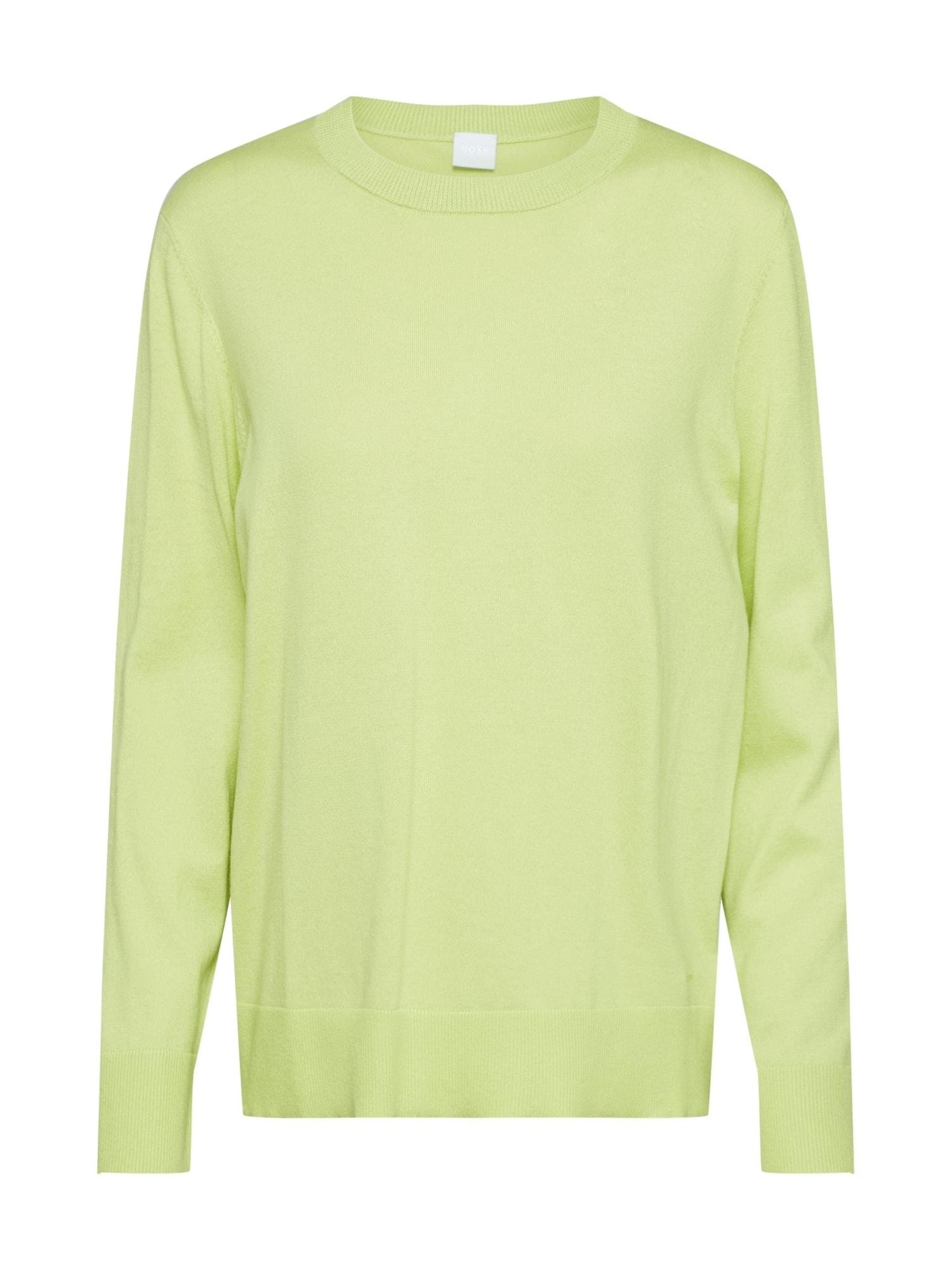 BOSS Megztinis 'Ibinna' žalia