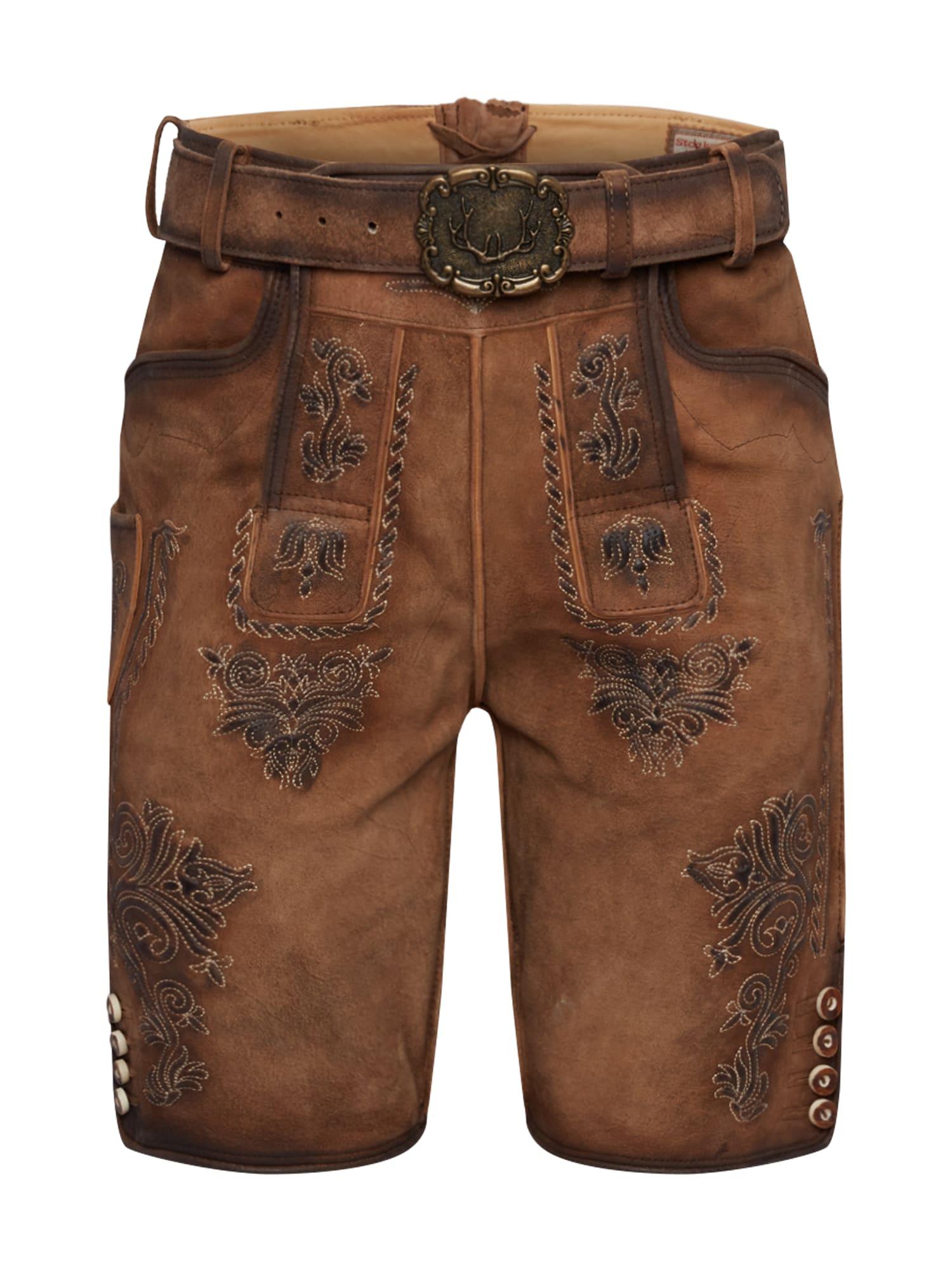 - CONTRAER - Kelnės su tradiciniais raštais 'Andreas' ruda