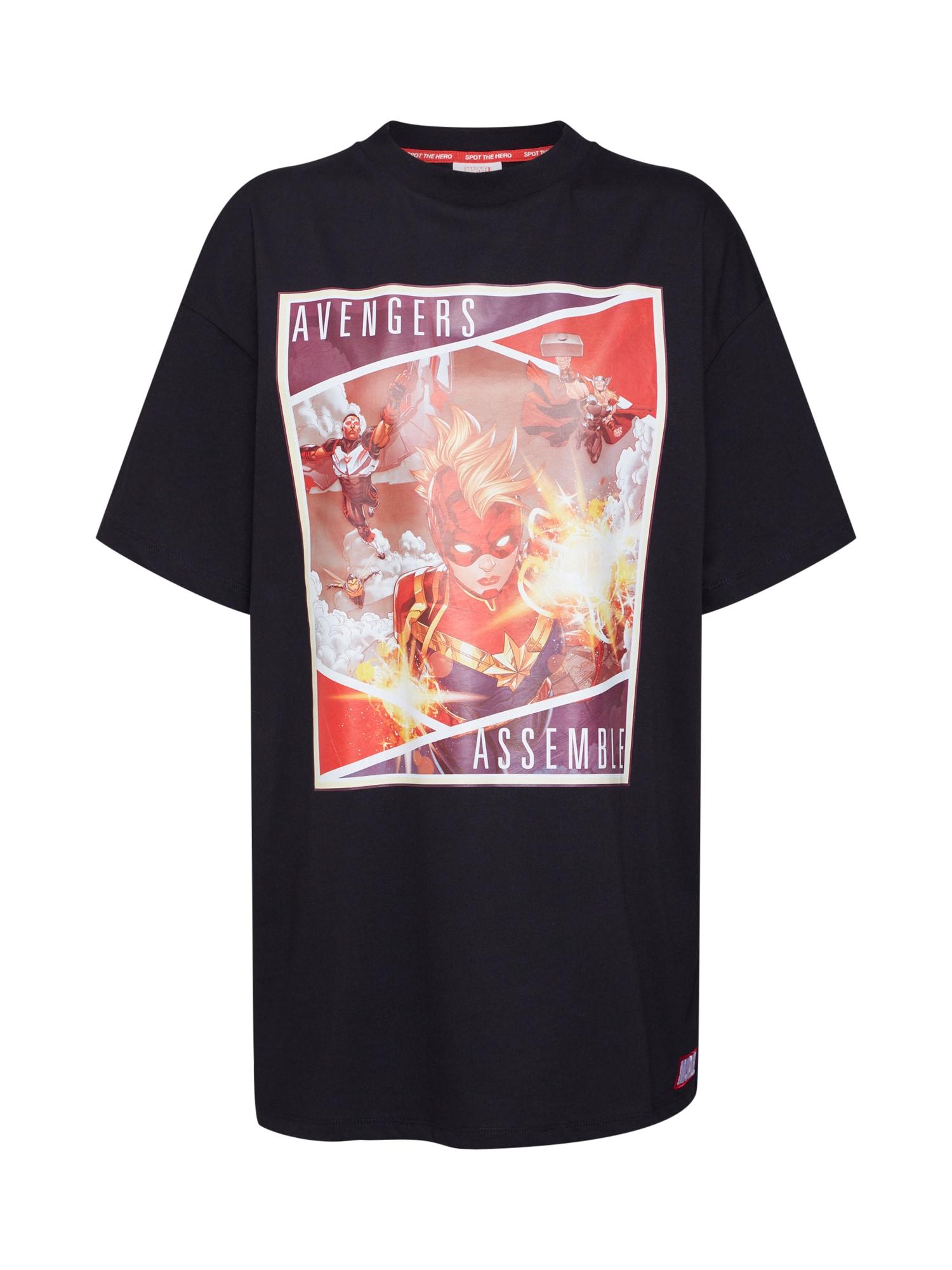 Oversized tričko Hanna ohnivá červená černá MARVEL X ABOUT YOU