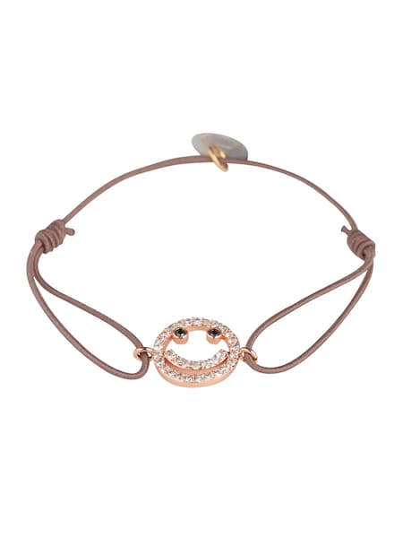 Armbaender für Frauen - Lua Accessories Armband 'Happy Face' dunkelbeige  - Onlineshop ABOUT YOU