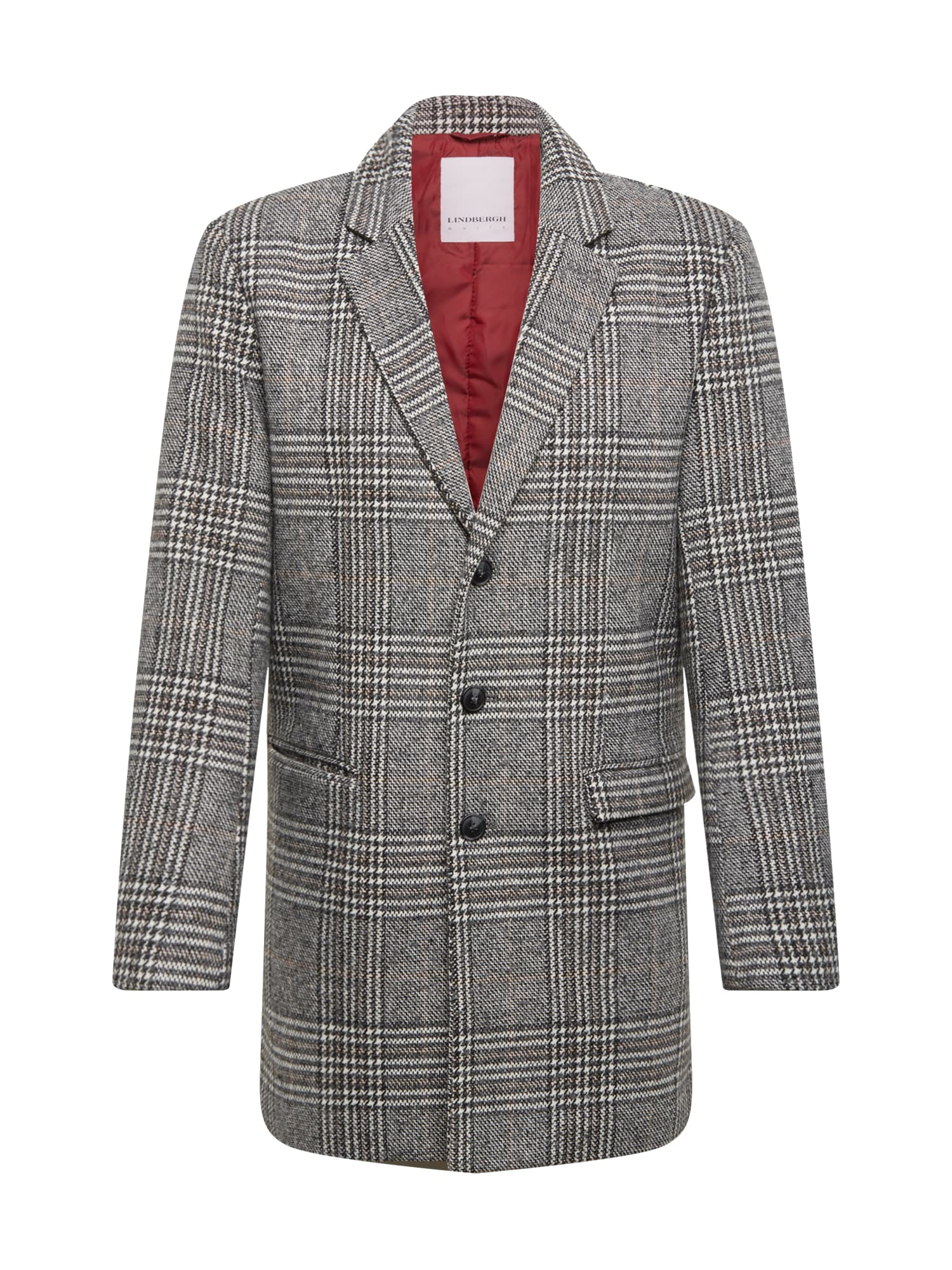 Lindbergh Rudeninis-žieminis paltas 'Checked coat' pilka