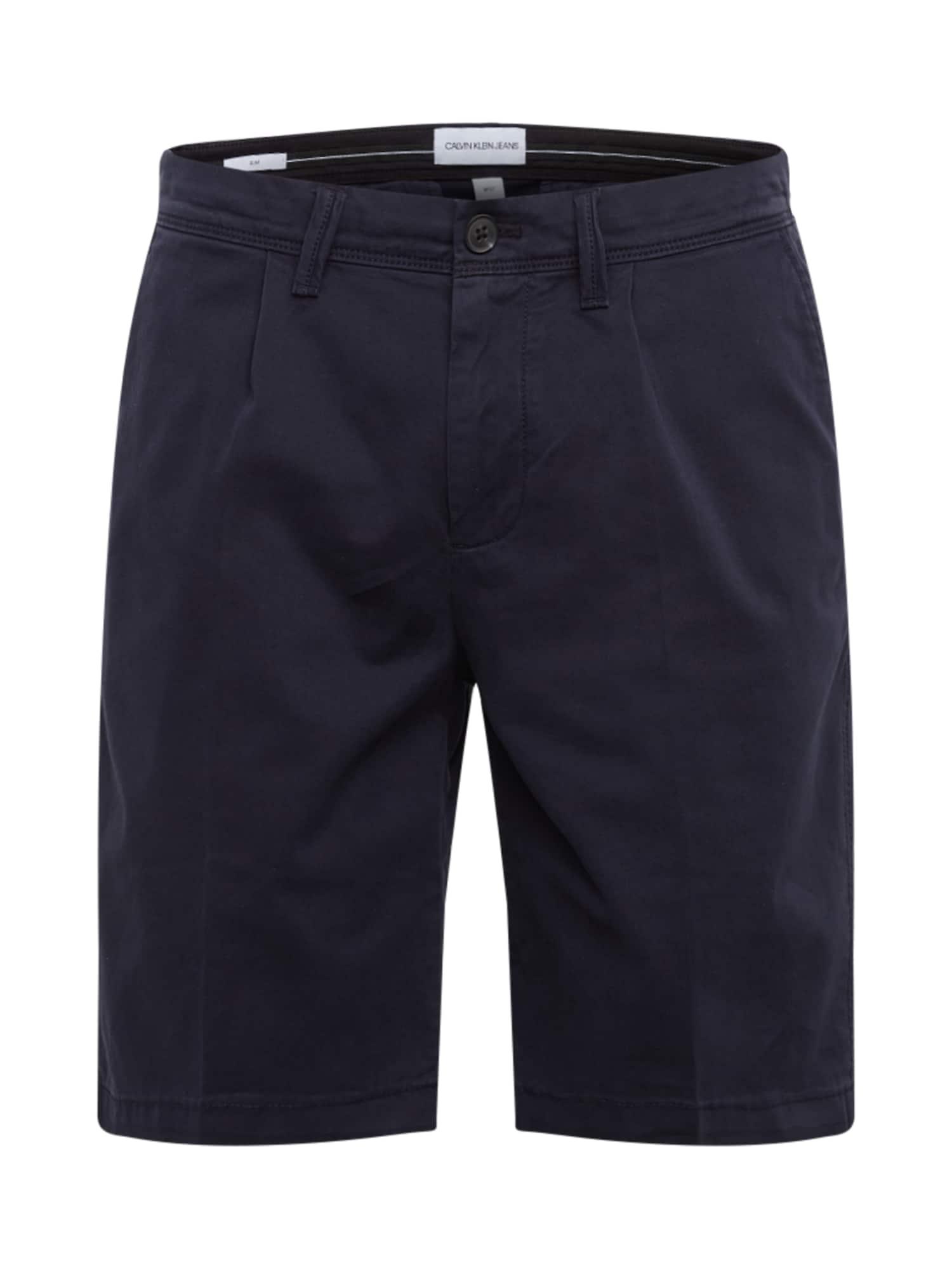 Calvin Klein Jeans Kelnės '026 PLEATED SHORT' nakties mėlyna
