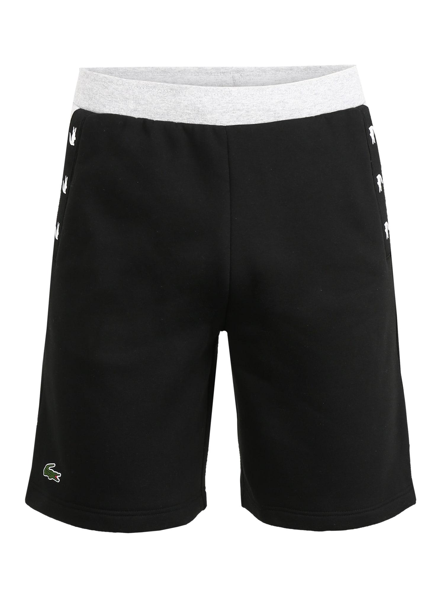 Lacoste Sport Sportinės kelnės 'Shorts' pilka / juoda