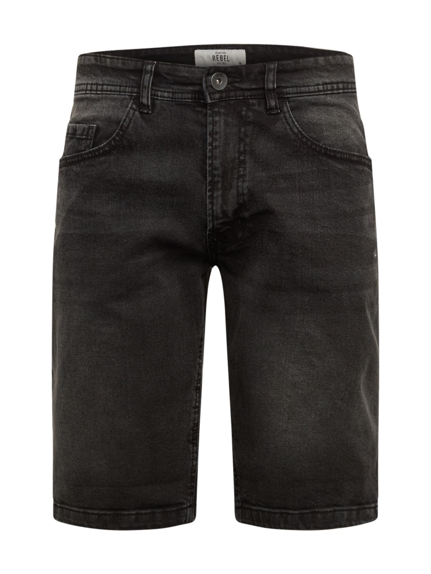 Redefined Rebel Džinsai 'RRCopenhagen' juodo džinso spalva