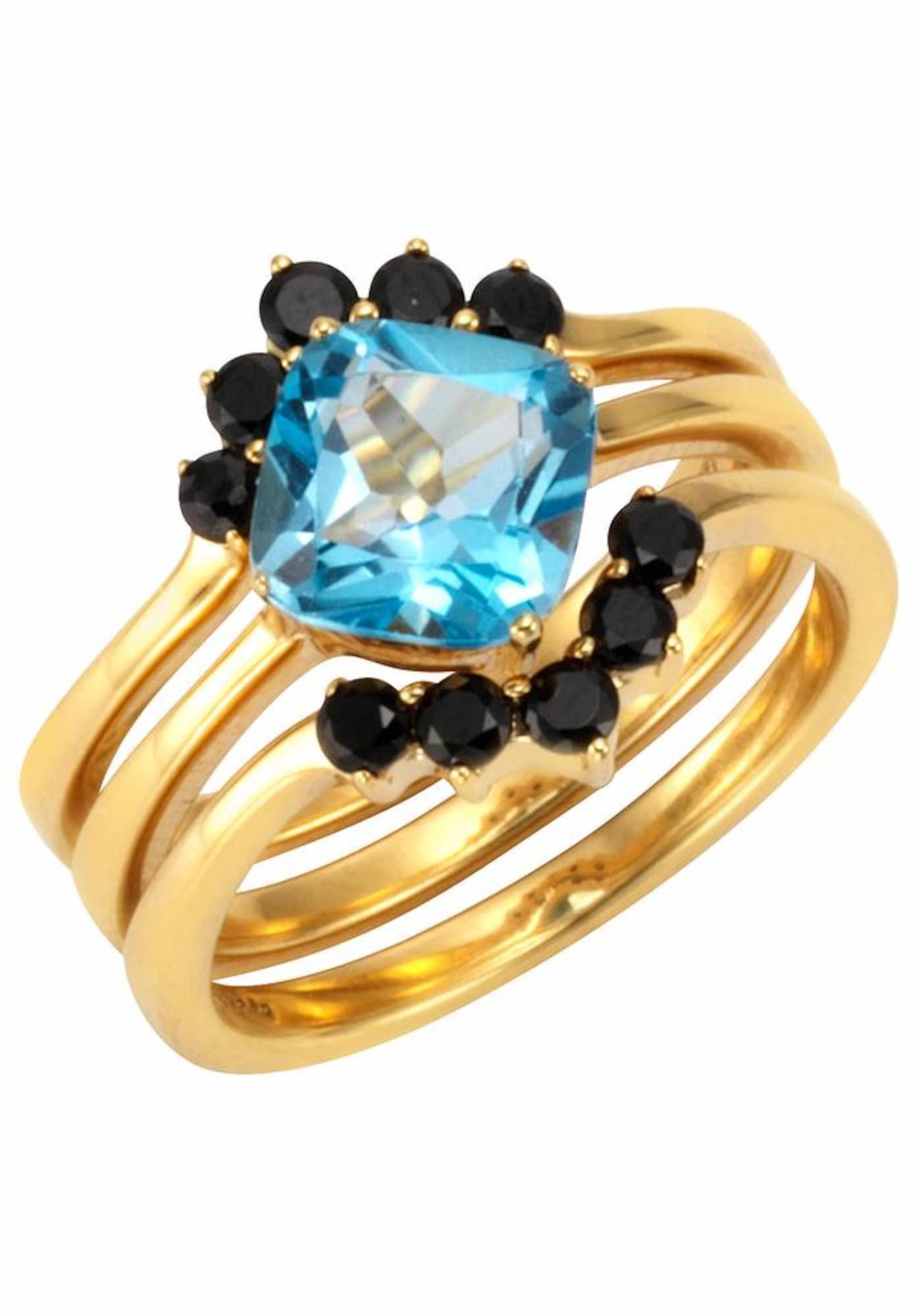 Schmucksets für Frauen - FIRETTI Fingerring blau gold schwarz  - Onlineshop ABOUT YOU