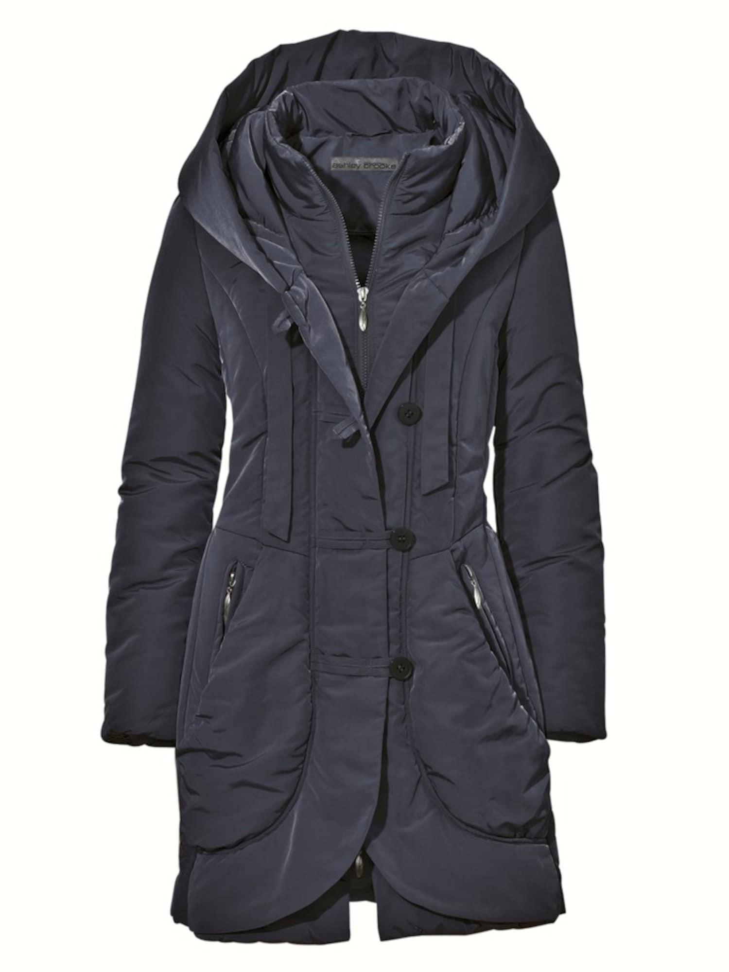 heine Žieminis paltas tamsiai mėlyna jūros spalva