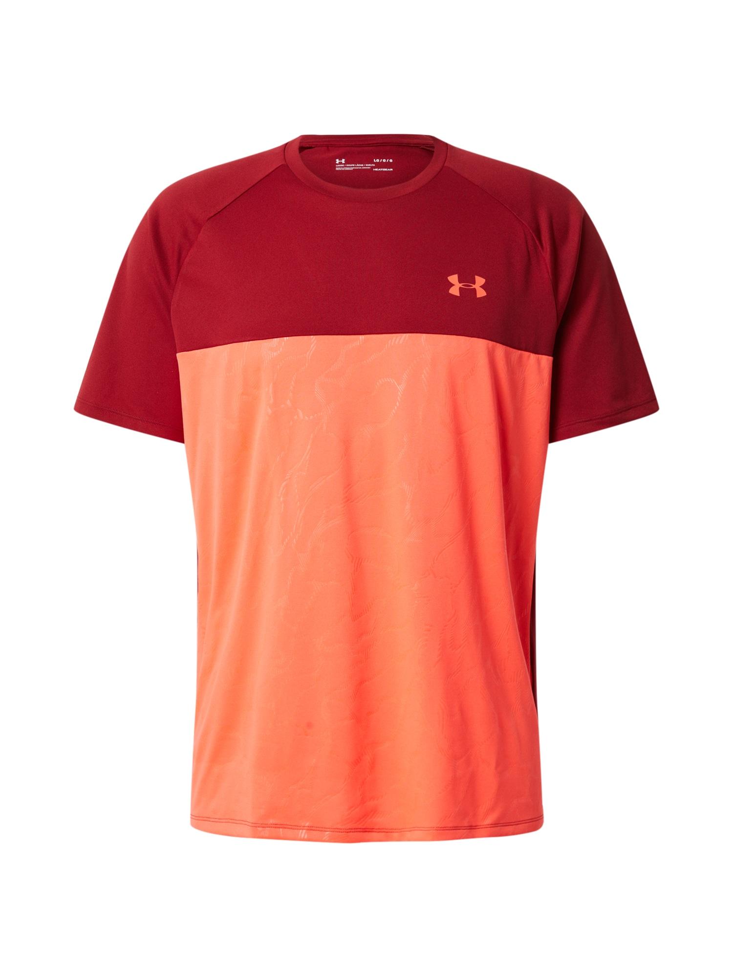 UNDER ARMOUR Funkčné tričko 'UA Tech 2.0 SS Emboss'  bordové / červené