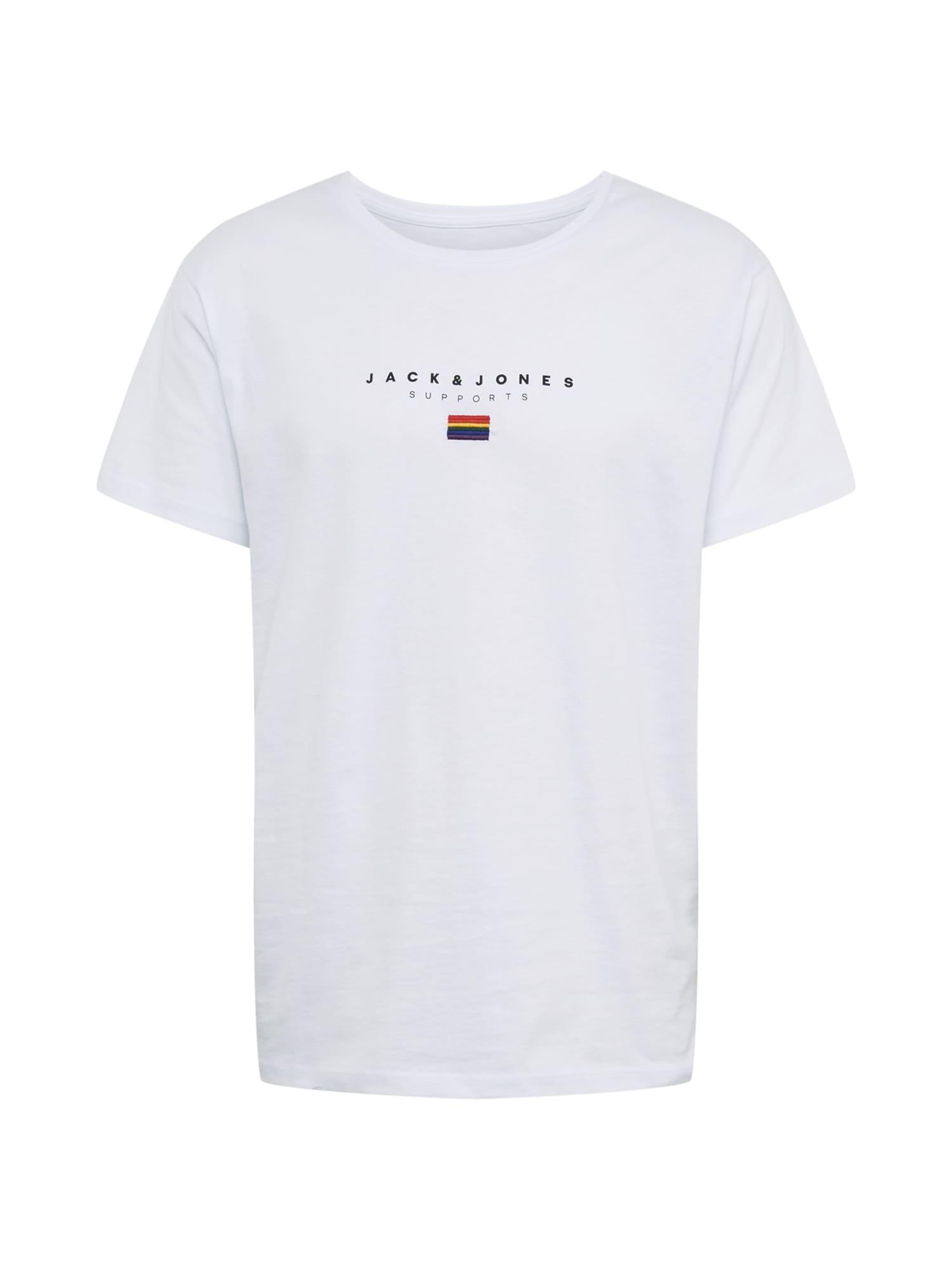 JACK & JONES Tričko 'JORPRIDE'  biela