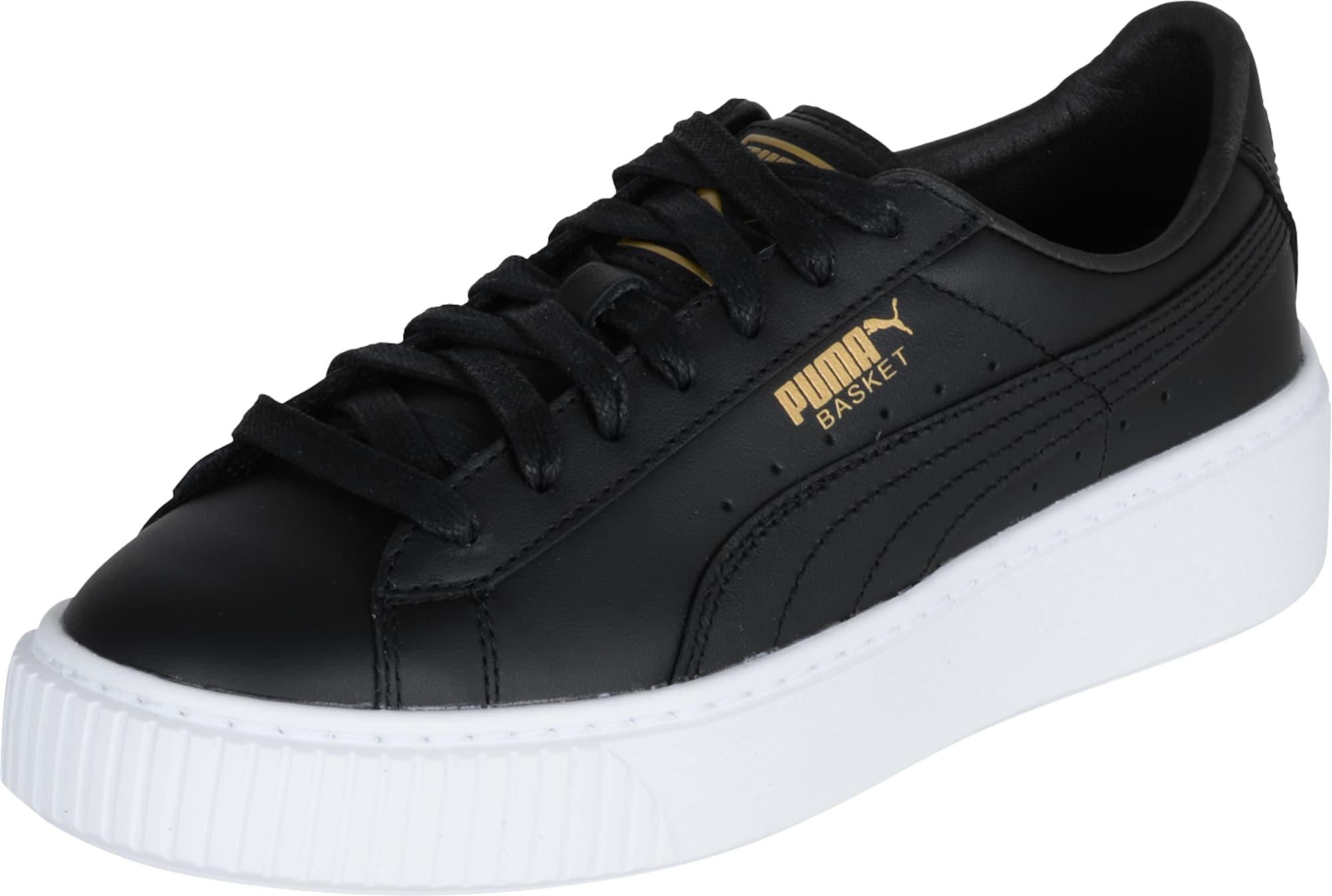 puma sneaker 39 basket platform core 39 in schwarz about you. Black Bedroom Furniture Sets. Home Design Ideas