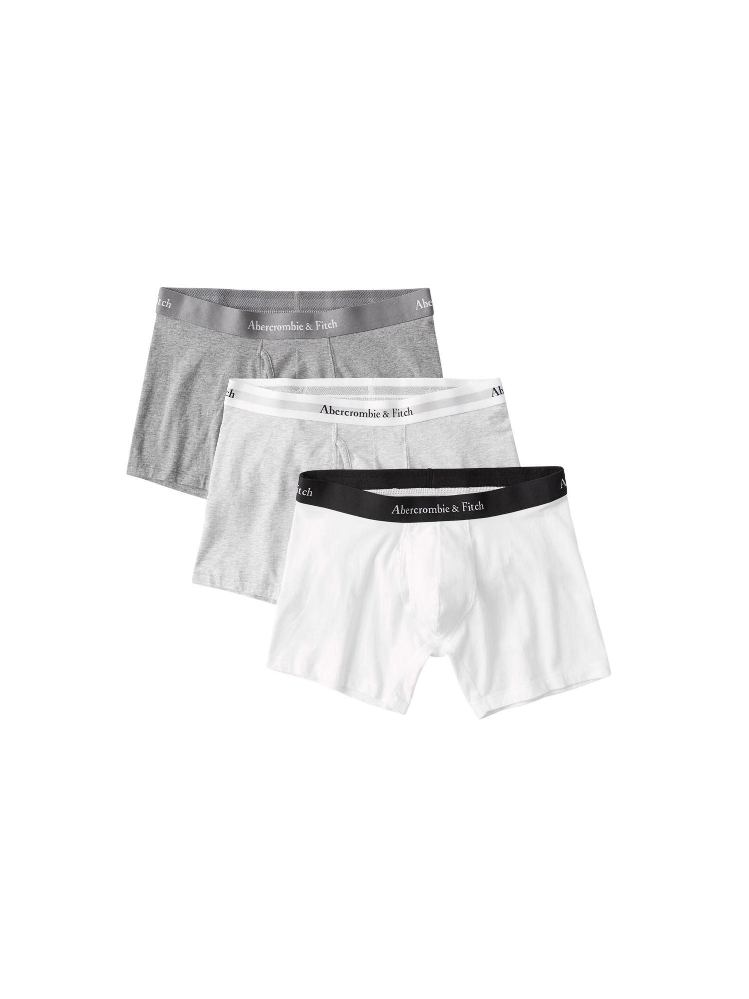 Abercrombie & Fitch Boxerky  sivá / svetlosivá