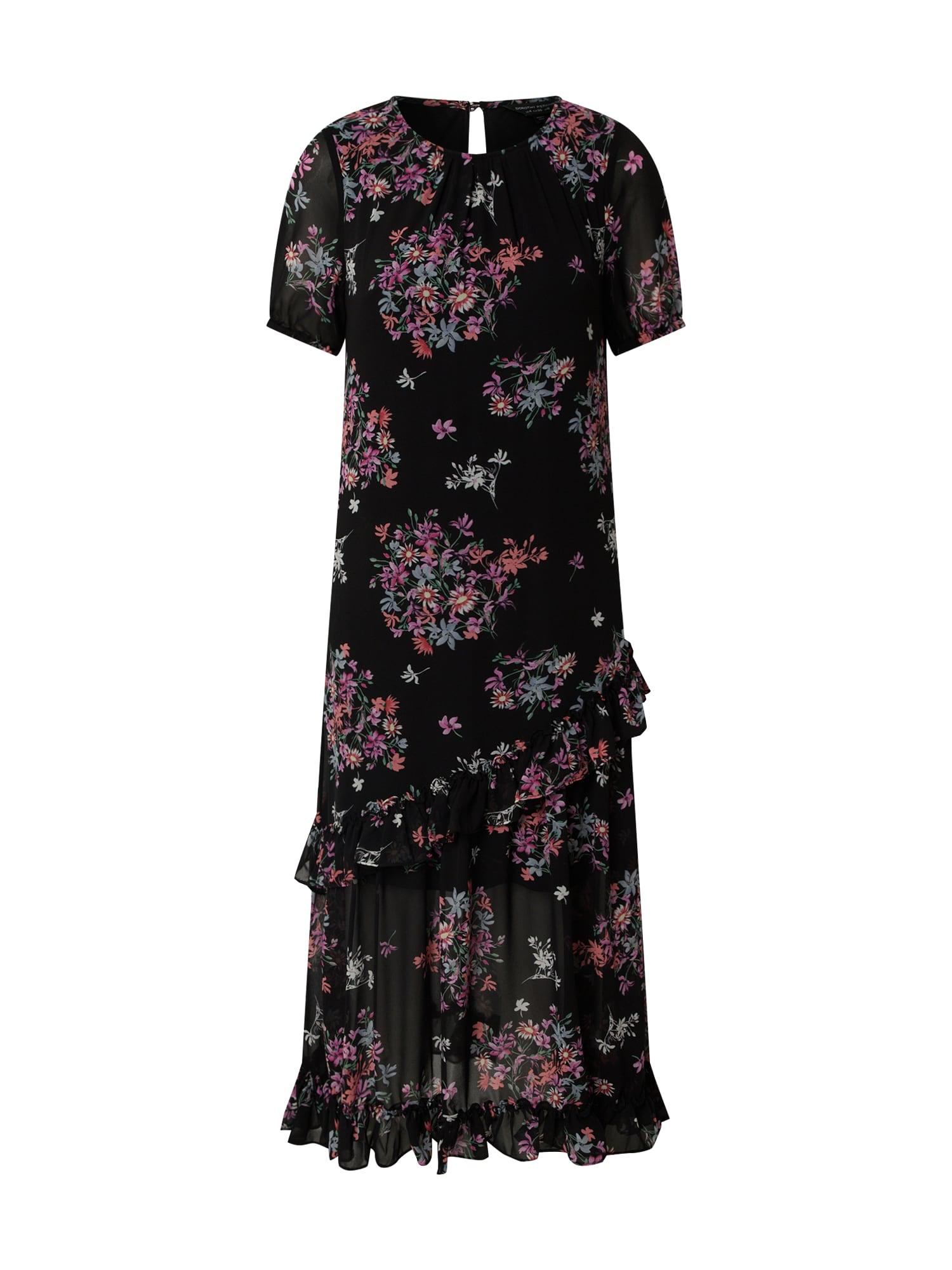 Dorothy Perkins Suknelė 'Ditsy' juoda / rožinė