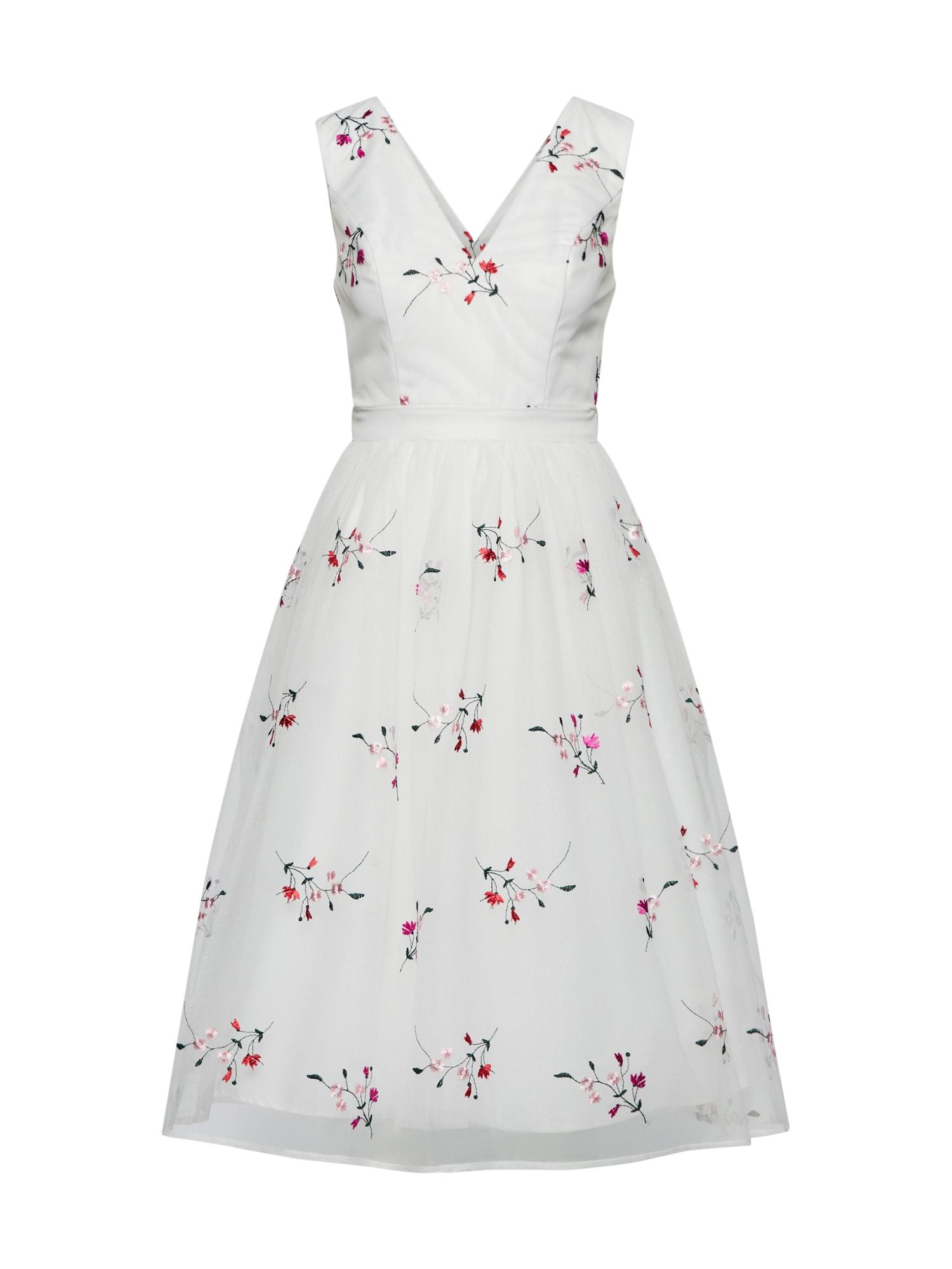 Koktejlové šaty růžová bílá Chi Chi London