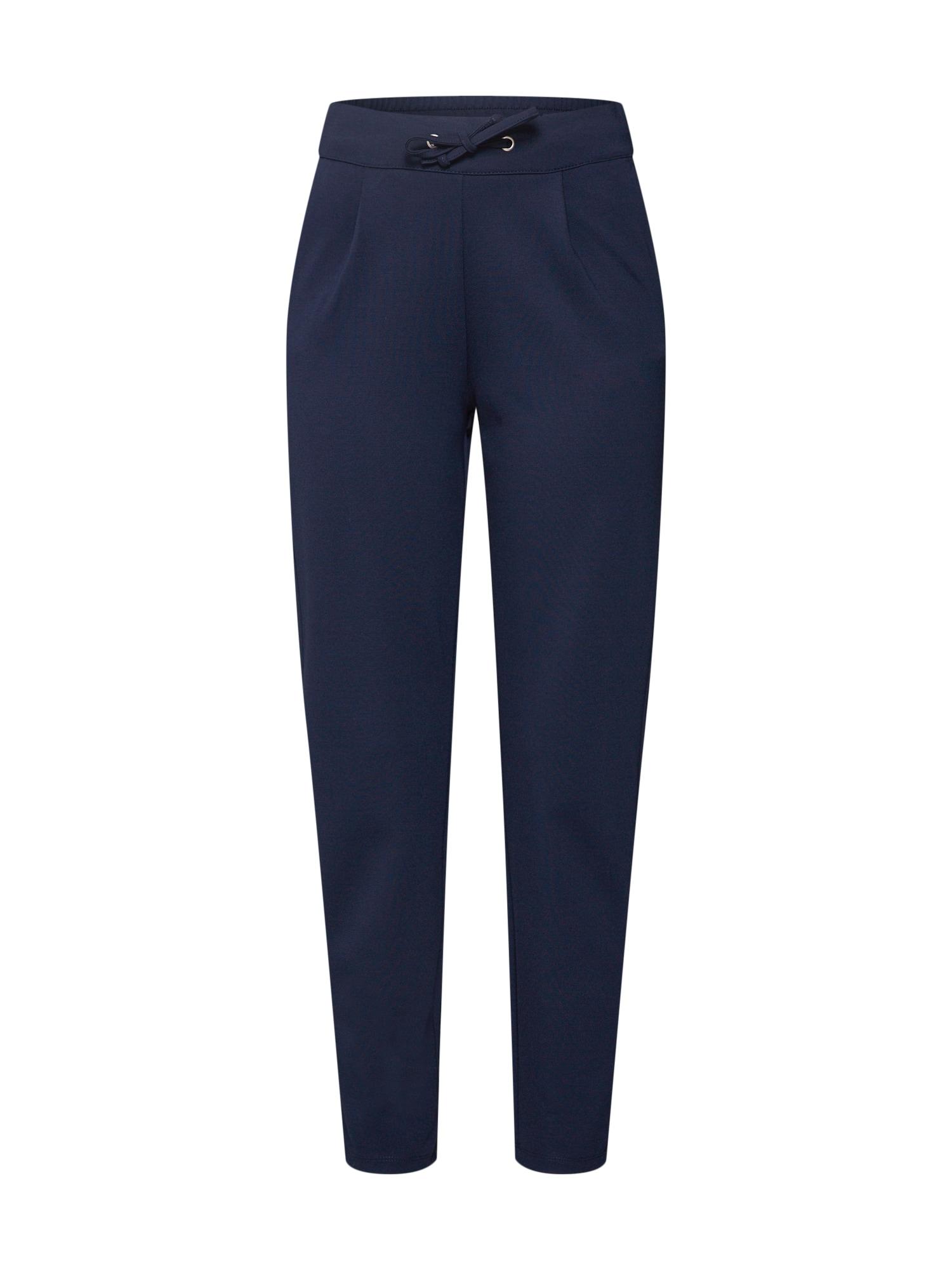 JACQUELINE de YONG Klostuotos kelnės 'Pretty' tamsiai mėlyna