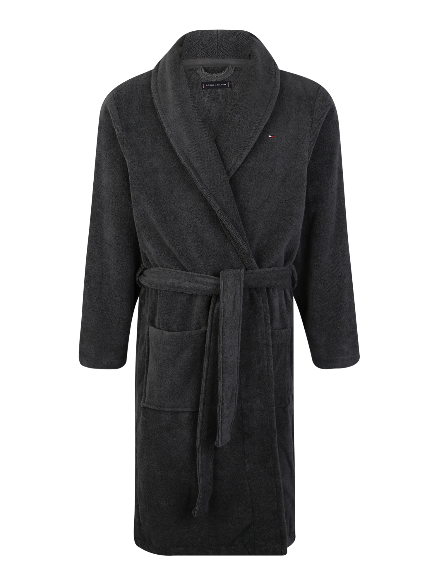 Tommy Hilfiger Underwear Halat de baie lung 'Icon bathrobe'  gri