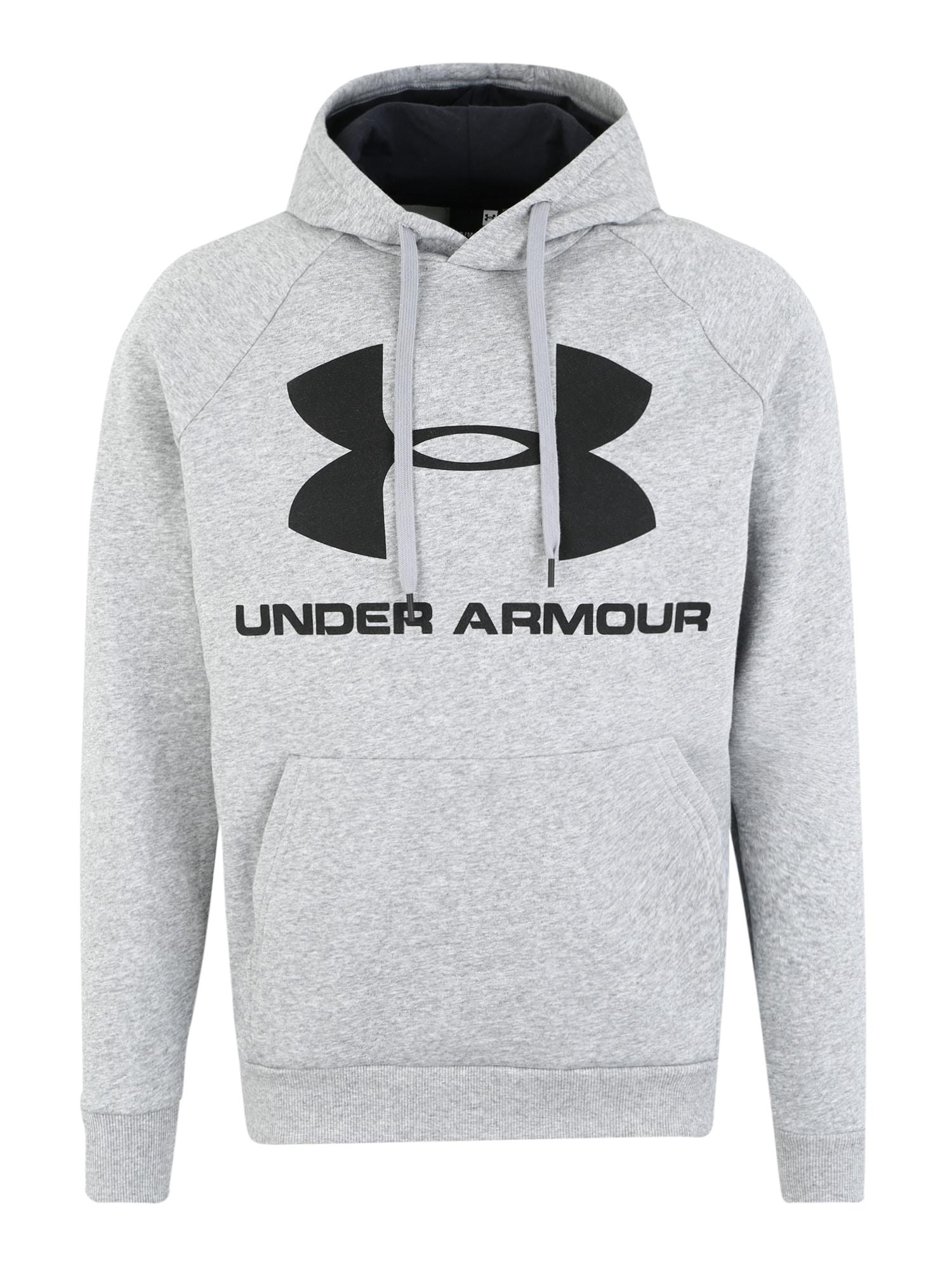 UNDER ARMOUR Sportinio tipo megztinis 'RIVAL FLEECE SPORTSTYLE' šviesiai pilka