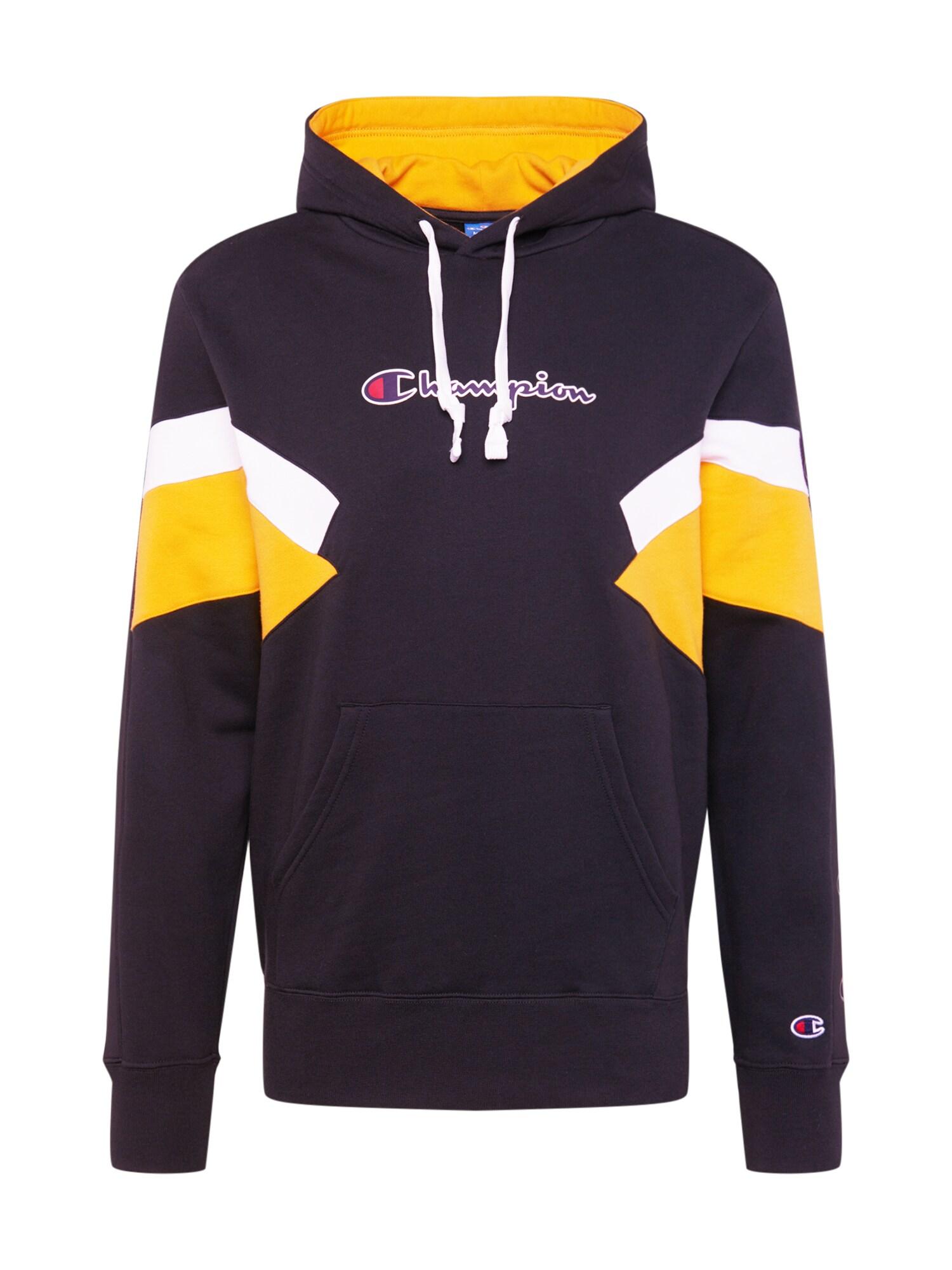 Champion Authentic Athletic Apparel Megztinis be užsegimo tamsiai mėlyna / geltona / balta