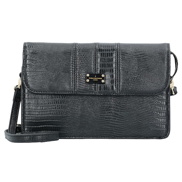 Clutches für Frauen - PAULS BOUTIQUE LONDON 'Veronica' Clutch 31 cm schwarz  - Onlineshop ABOUT YOU