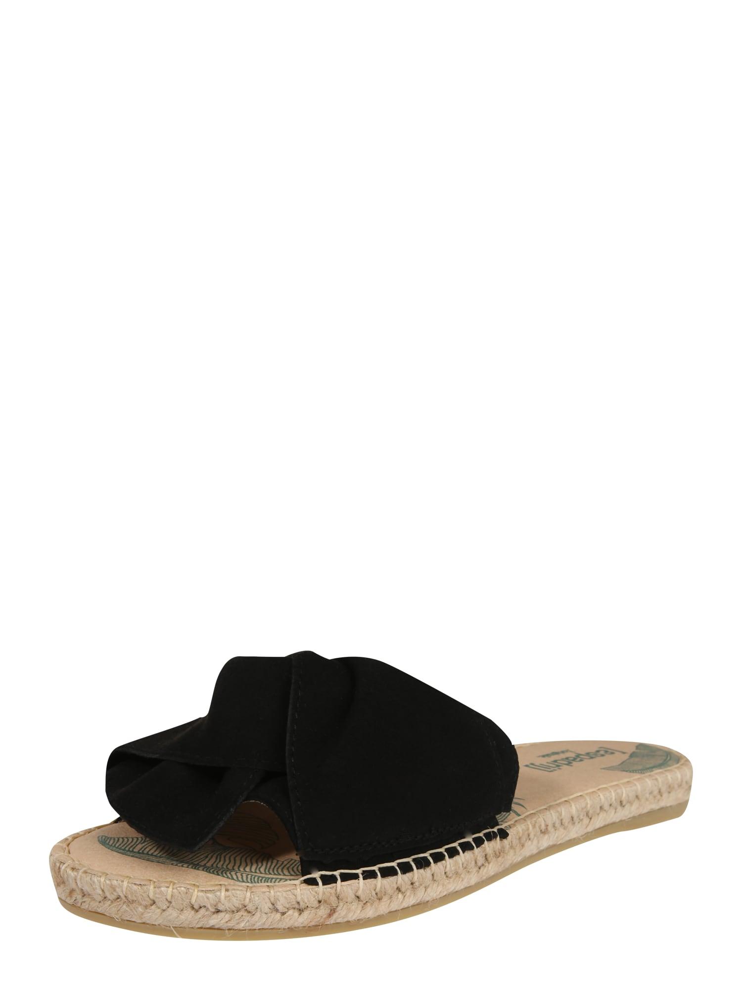 espadrij l´originale Šlepetės 'Plage Boucle' smėlio / juoda