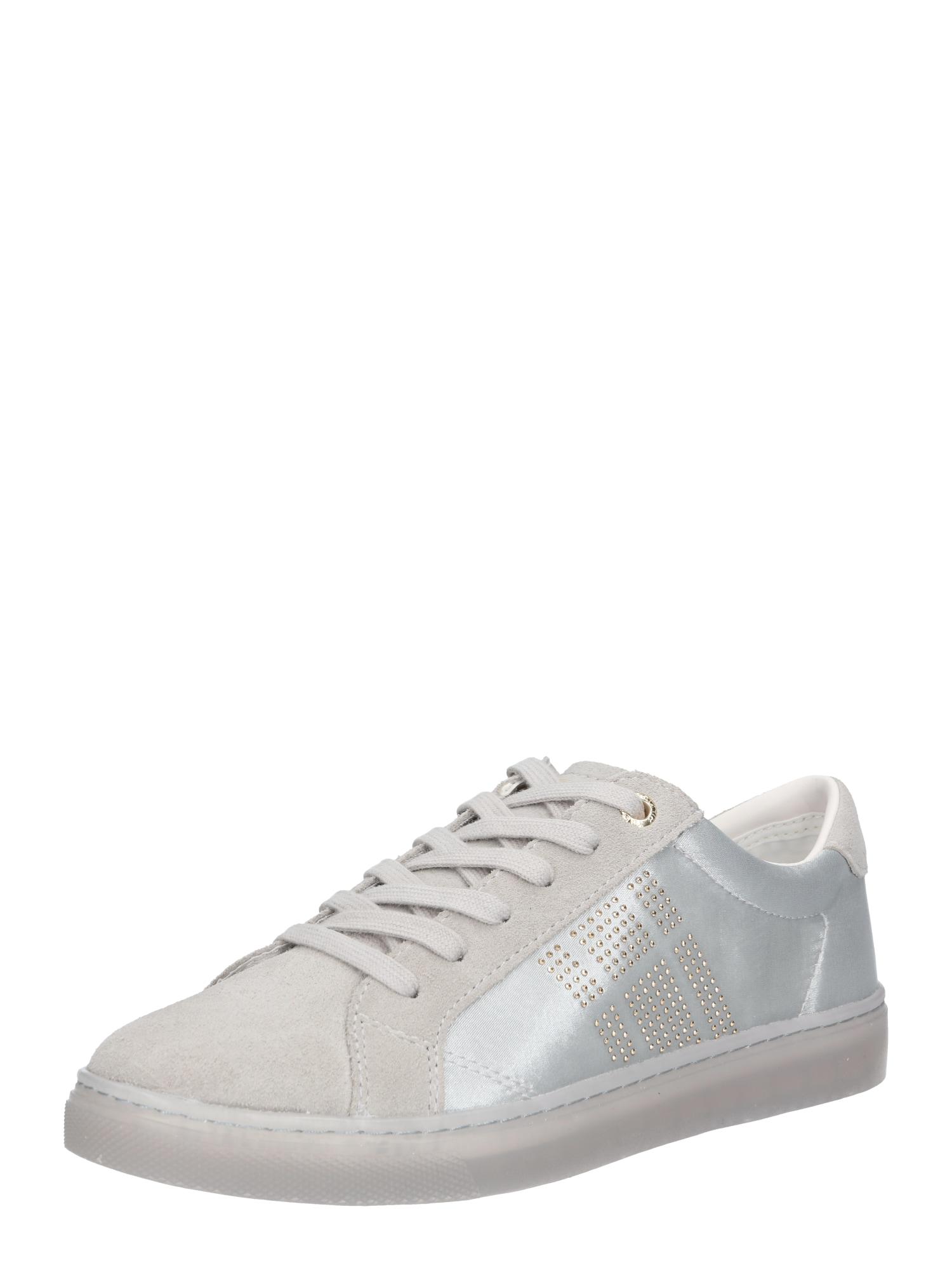 f55f78ca554 Tommy Hilfiger Dames Sneakers Laag Sparkle Satin Essential Lichtgrijs tommy  hilfiger kopen in de aanbieding