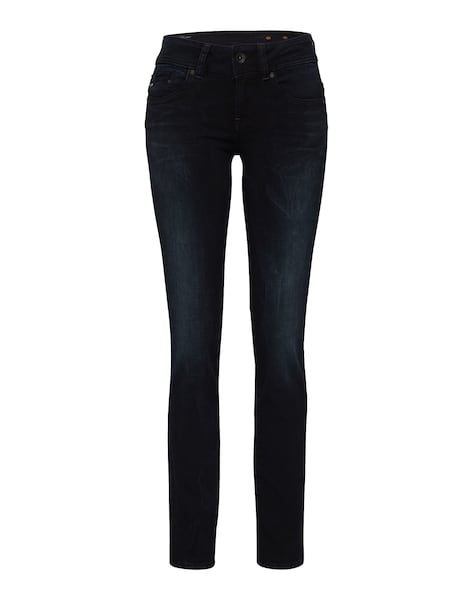 Hosen - 'Midge Saddle Mid Straight' Jeans › G Star Raw › black denim  - Onlineshop ABOUT YOU
