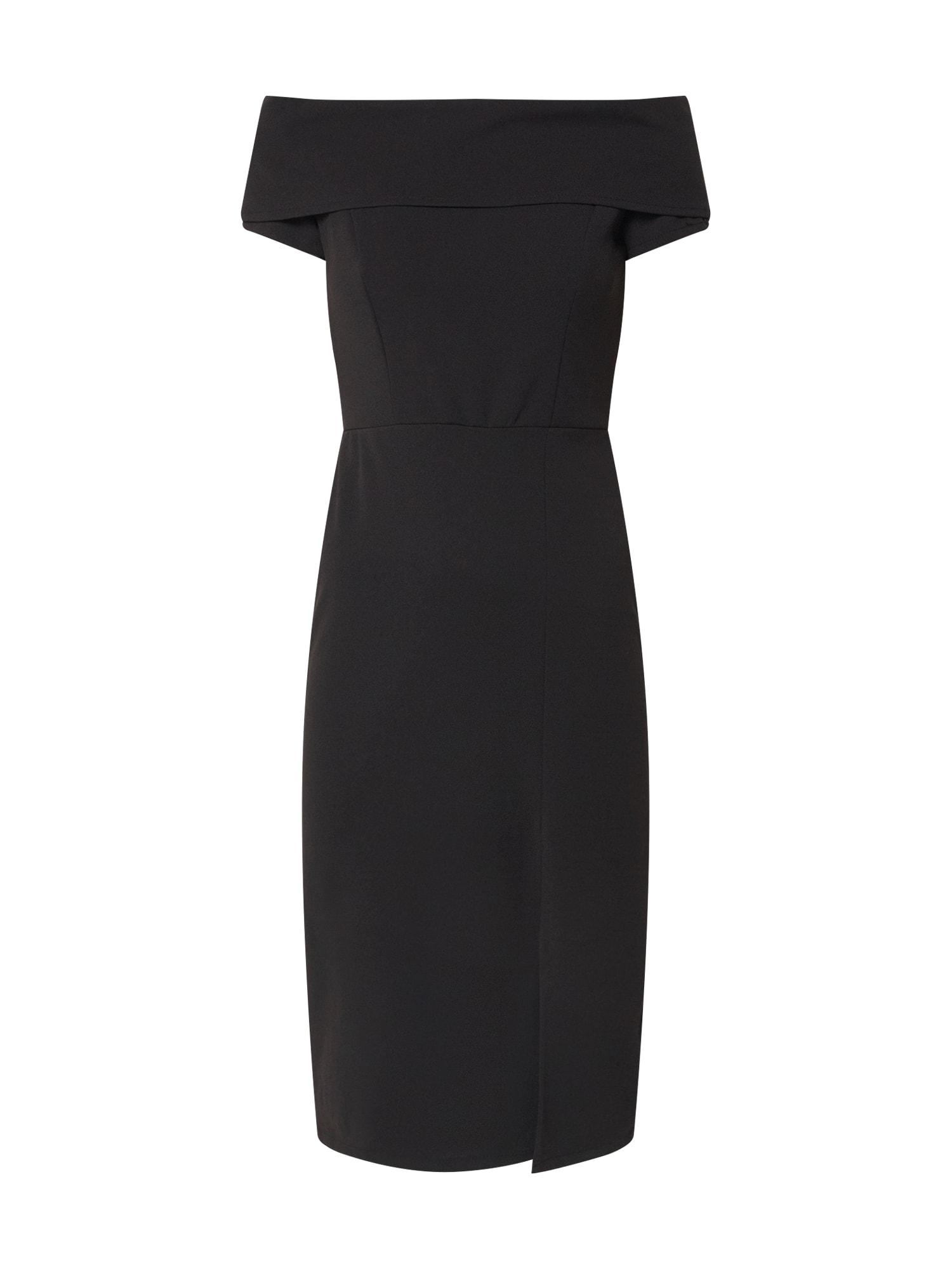 WAL G. Trumpa kokteilinė suknelė juoda