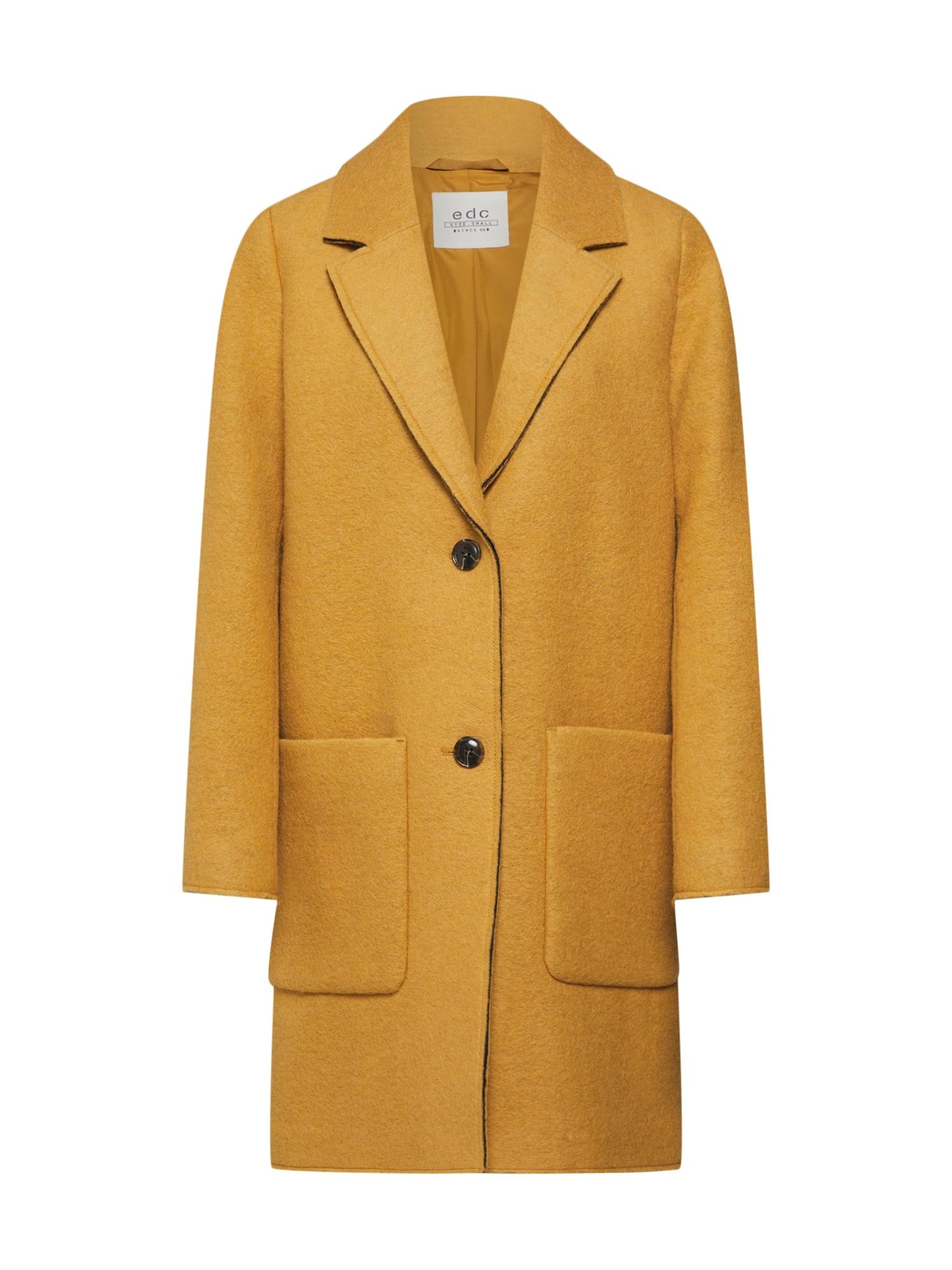 EDC BY ESPRIT Demisezoninis paltas geltona