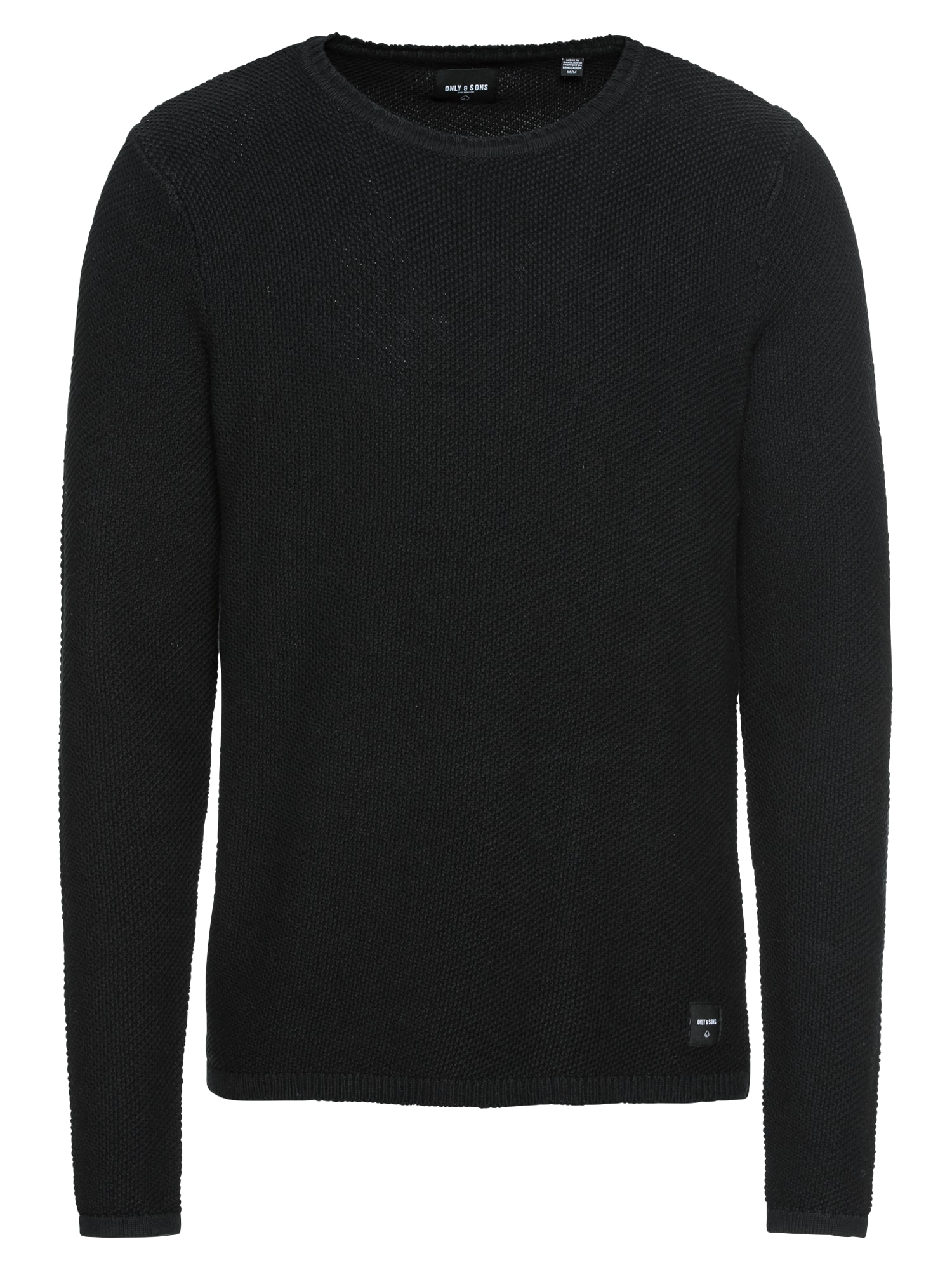 Only & Sons Svetr 'onsDAN 7 STRUCTURE CREW NECK NOOS'  černá