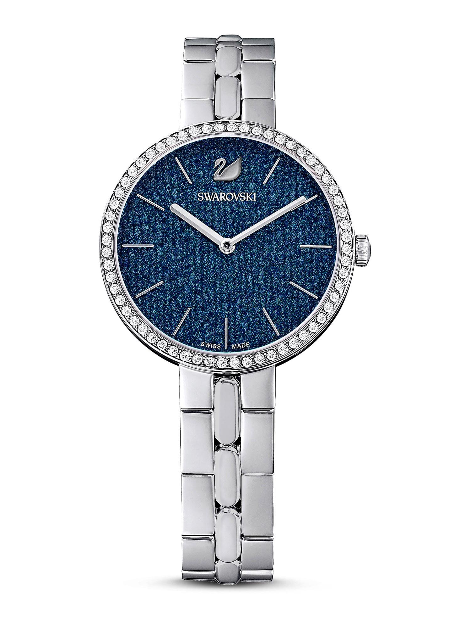 Swarovski Analoginis (įprasto dizaino) laikrodis sidabrinė / tamsiai mėlyna