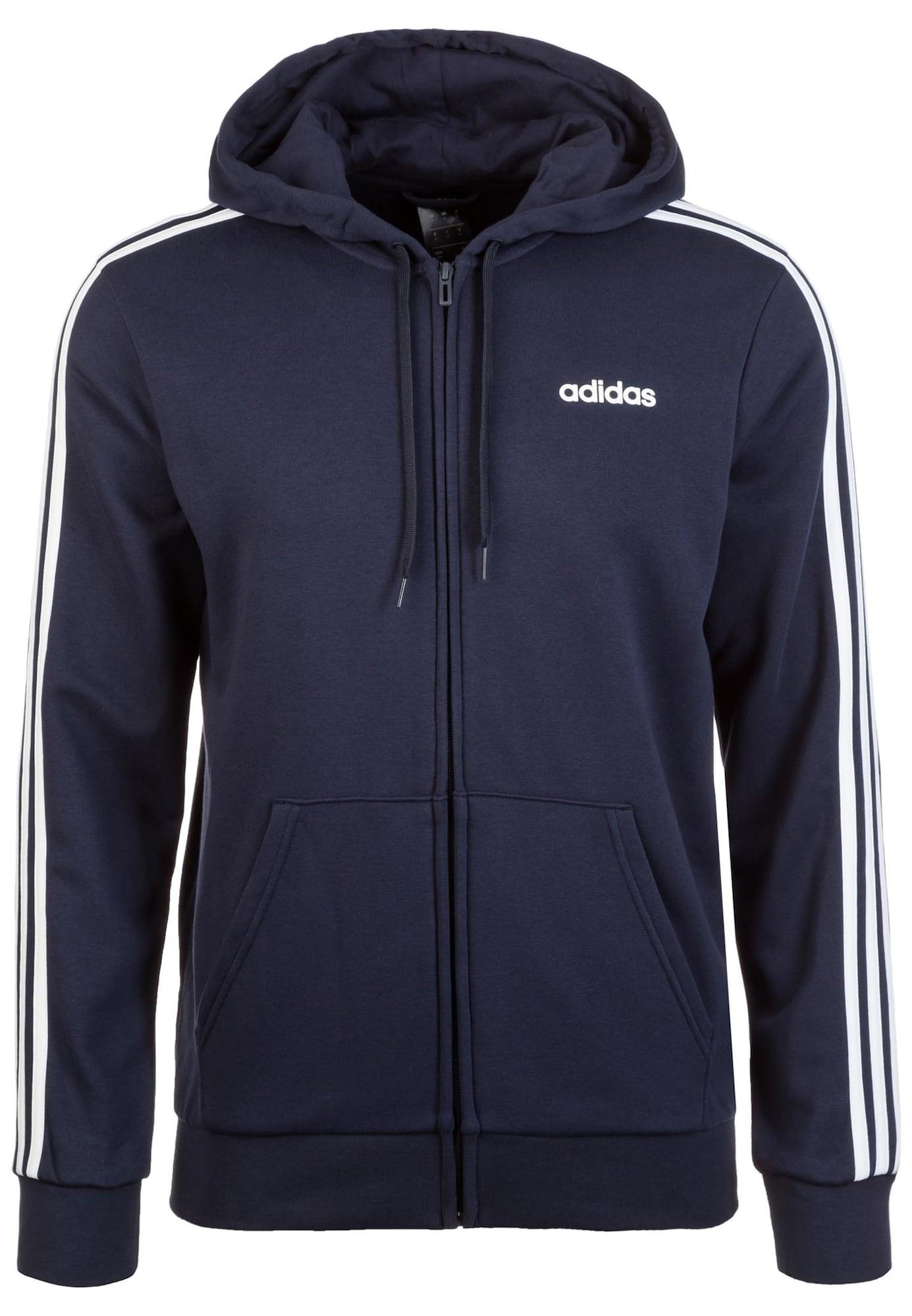 ADIDAS PERFORMANCE Sportinis džemperis tamsiai mėlyna / balta