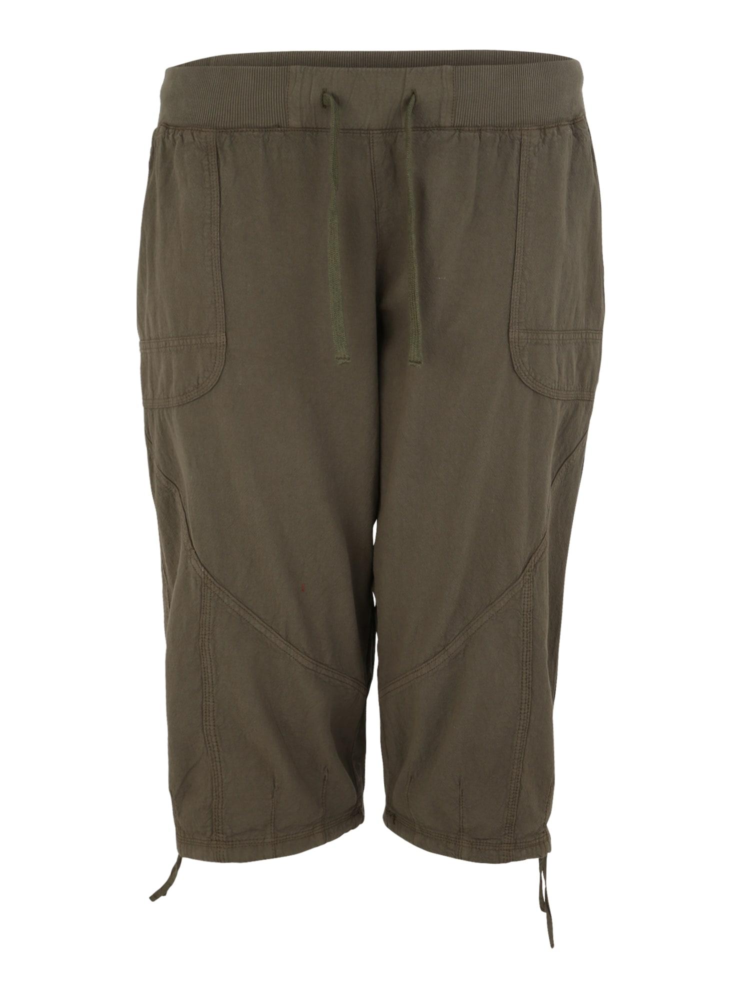 Kalhoty MMarakesh olivová Zizzi