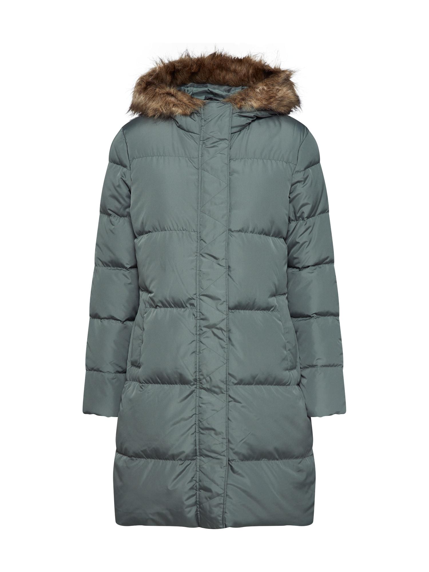 GAP Žieminis paltas 'V-LONG DOWN PUFFER' alyvuogių spalva