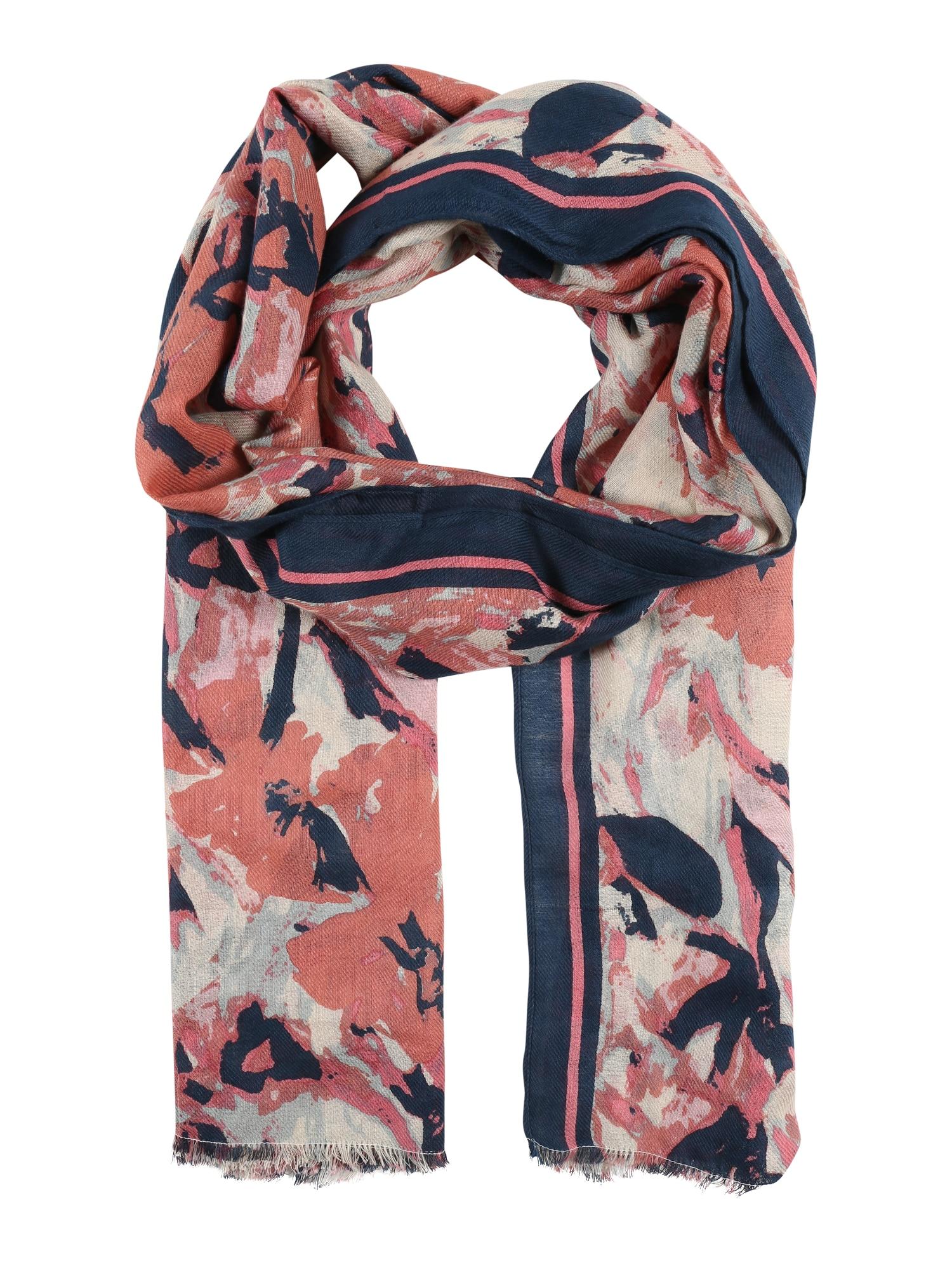 Šátek Blanca námořnická modř růžová UNMADE Copenhagen
