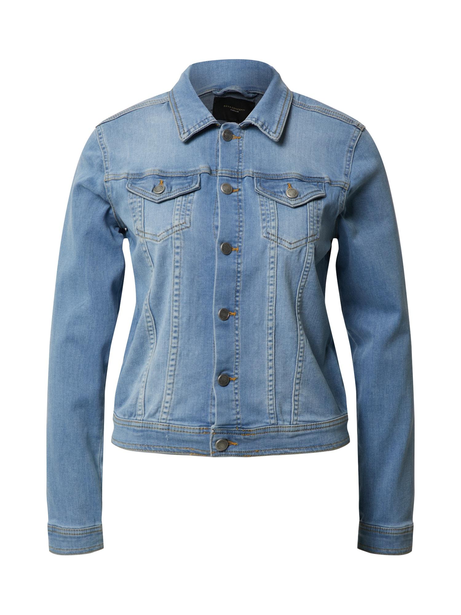 Soyaconcept Demisezoninė striukė 'ANDORA' tamsiai (džinso) mėlyna / šviesiai mėlyna