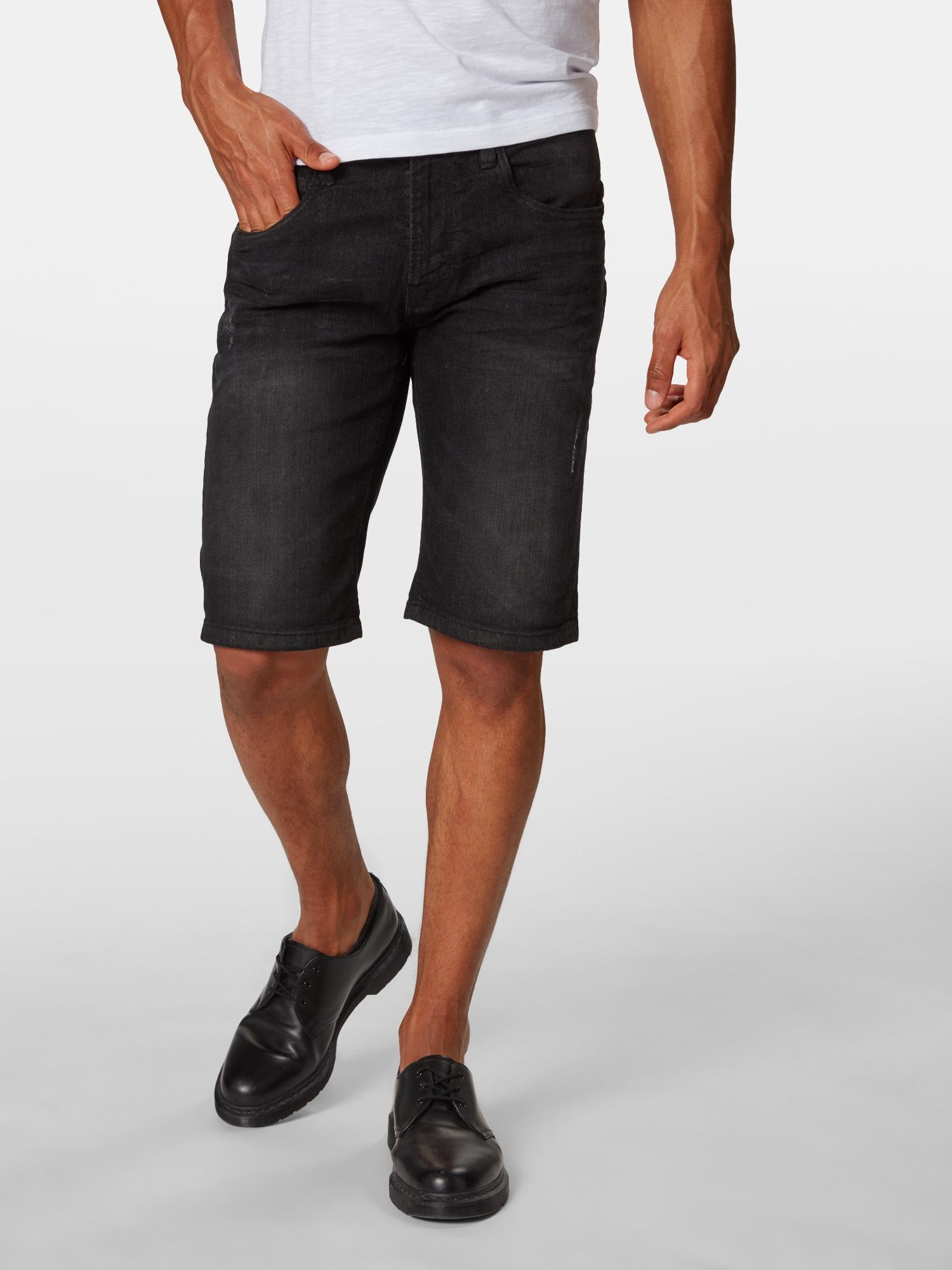 INDICODE JEANS Džinsai 'Kaden' juodo džinso spalva