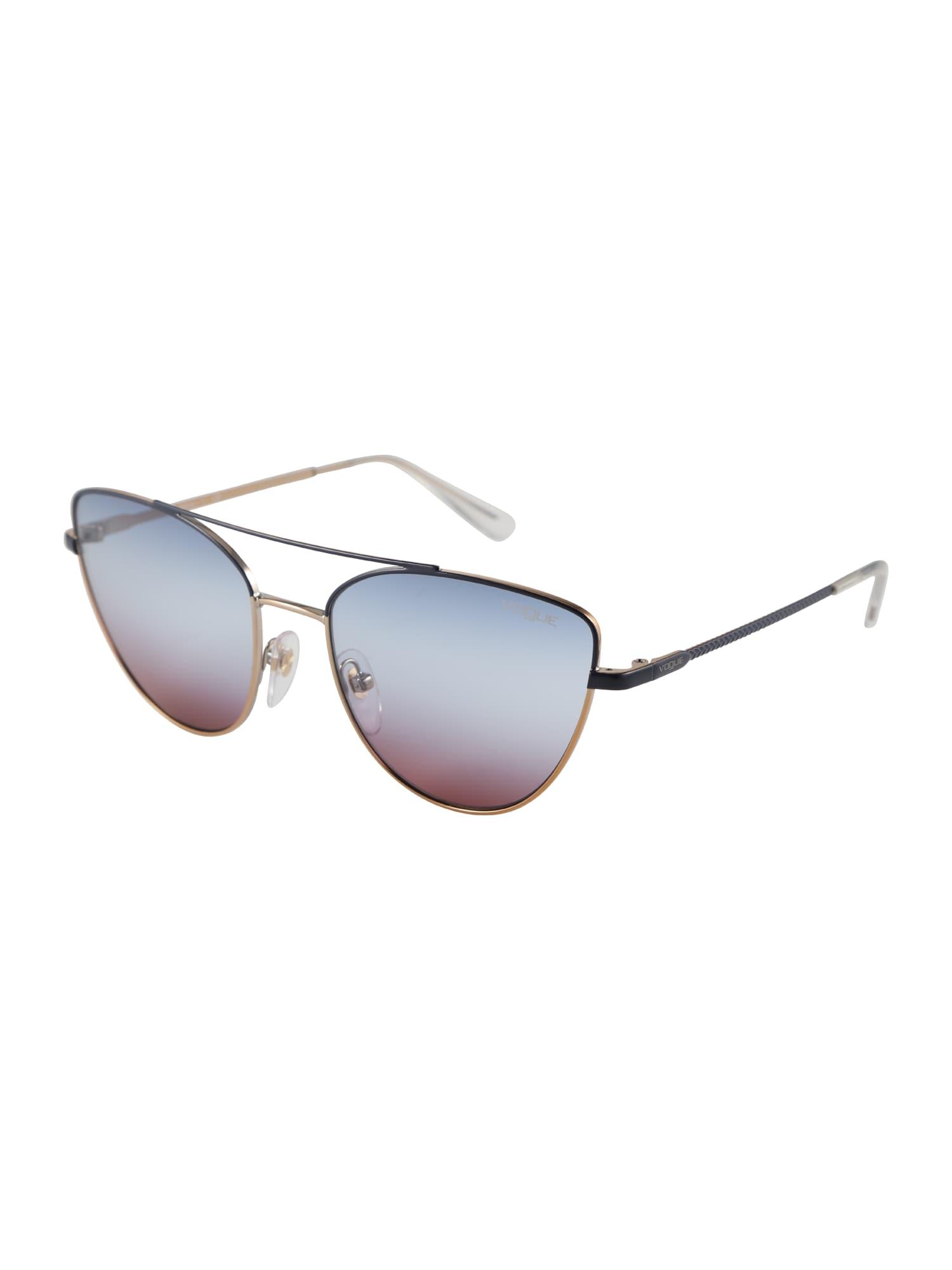 VOGUE Eyewear Akiniai nuo saulės auksas / violetinė-mėlyna / juoda