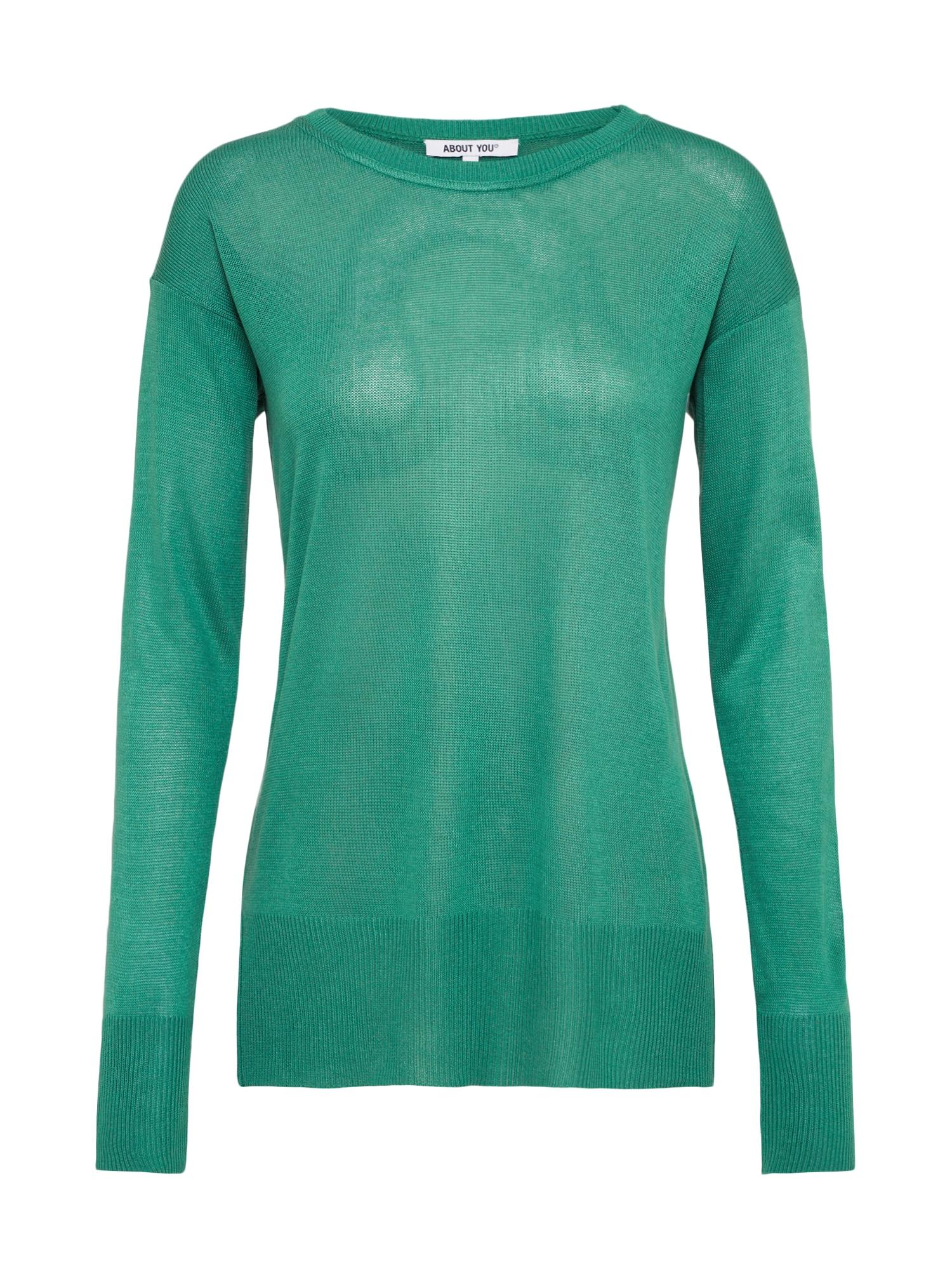 ABOUT YOU Megztinis 'Rosalina' smaragdinė spalva