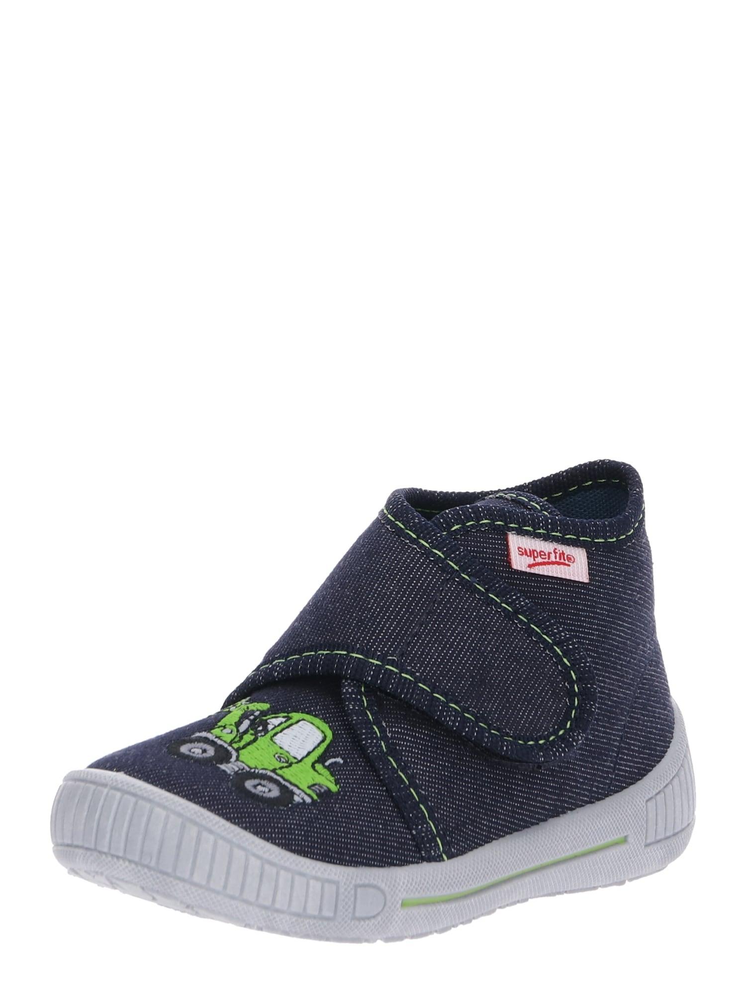 Pantofle BULLY modrá džínovina zelená SUPERFIT