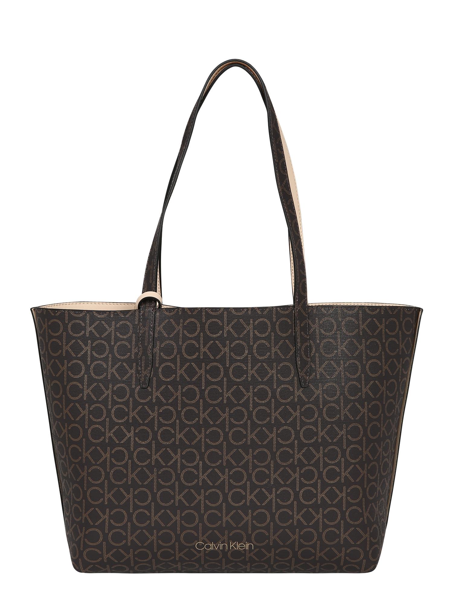 Calvin Klein Pirkinių krepšys ruda / smėlio