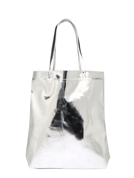Shopper für Frauen - ONLY Shopper 'onlPISKA METALLIC' silber  - Onlineshop ABOUT YOU
