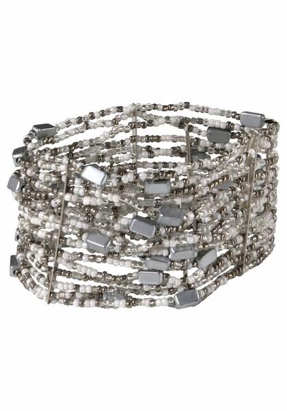 Armbaender für Frauen - J. Jayz Armband grau weiß  - Onlineshop ABOUT YOU