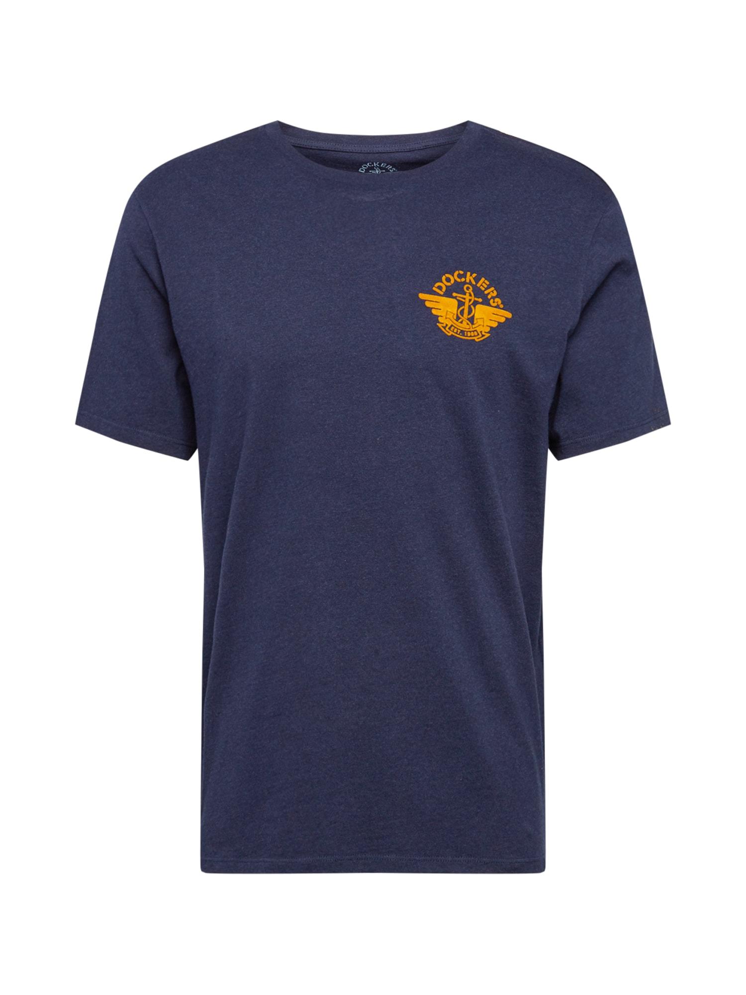 Dockers Marškinėliai tamsiai mėlyna / oranžinė