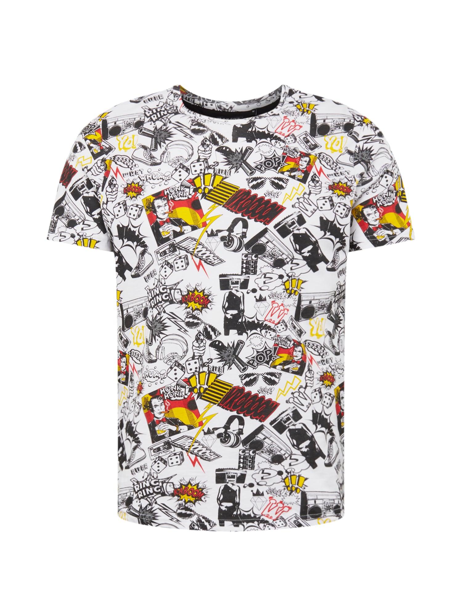 BRAVE SOUL Marškinėliai balta / mišrios spalvos