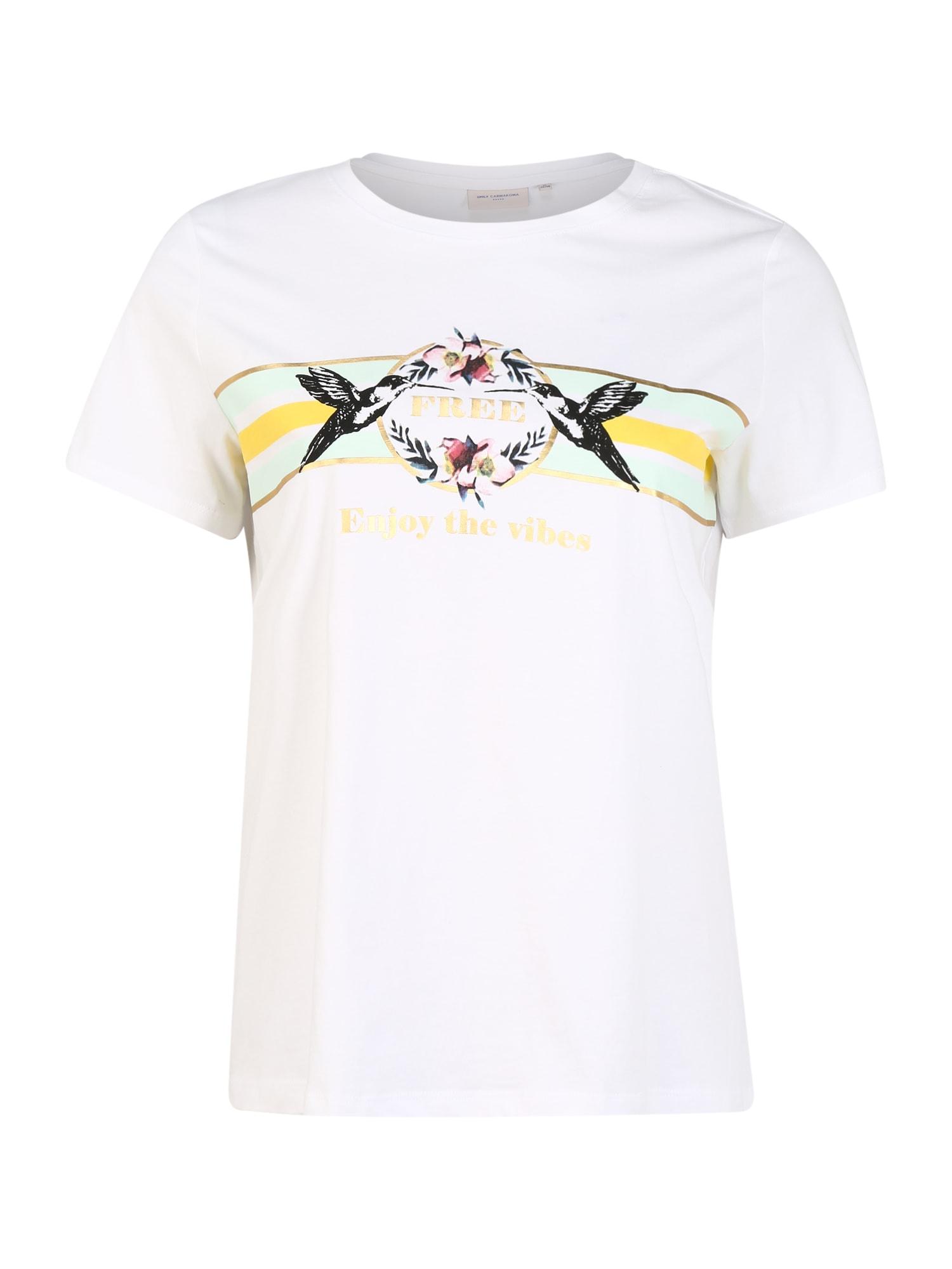ONLY Carmakoma Marškinėliai 'CARAMALFI' balta