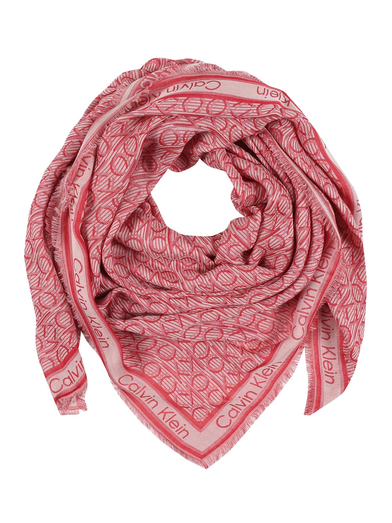 Calvin Klein Skara 'CK MONO J SCARF 130x130' rožių spalva