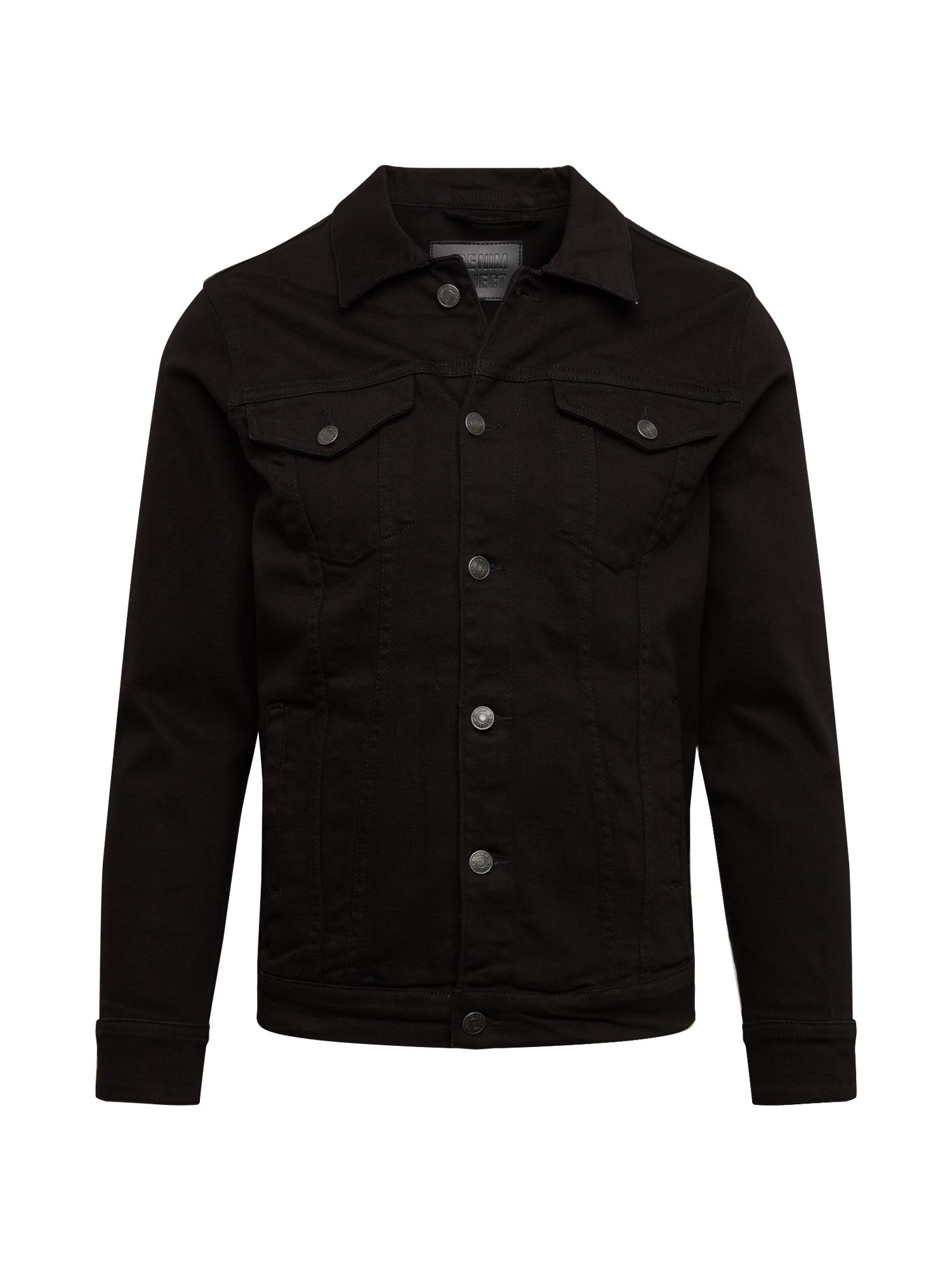 Denim Project Demisezoninė striukė 'Kash' juodo džinso spalva